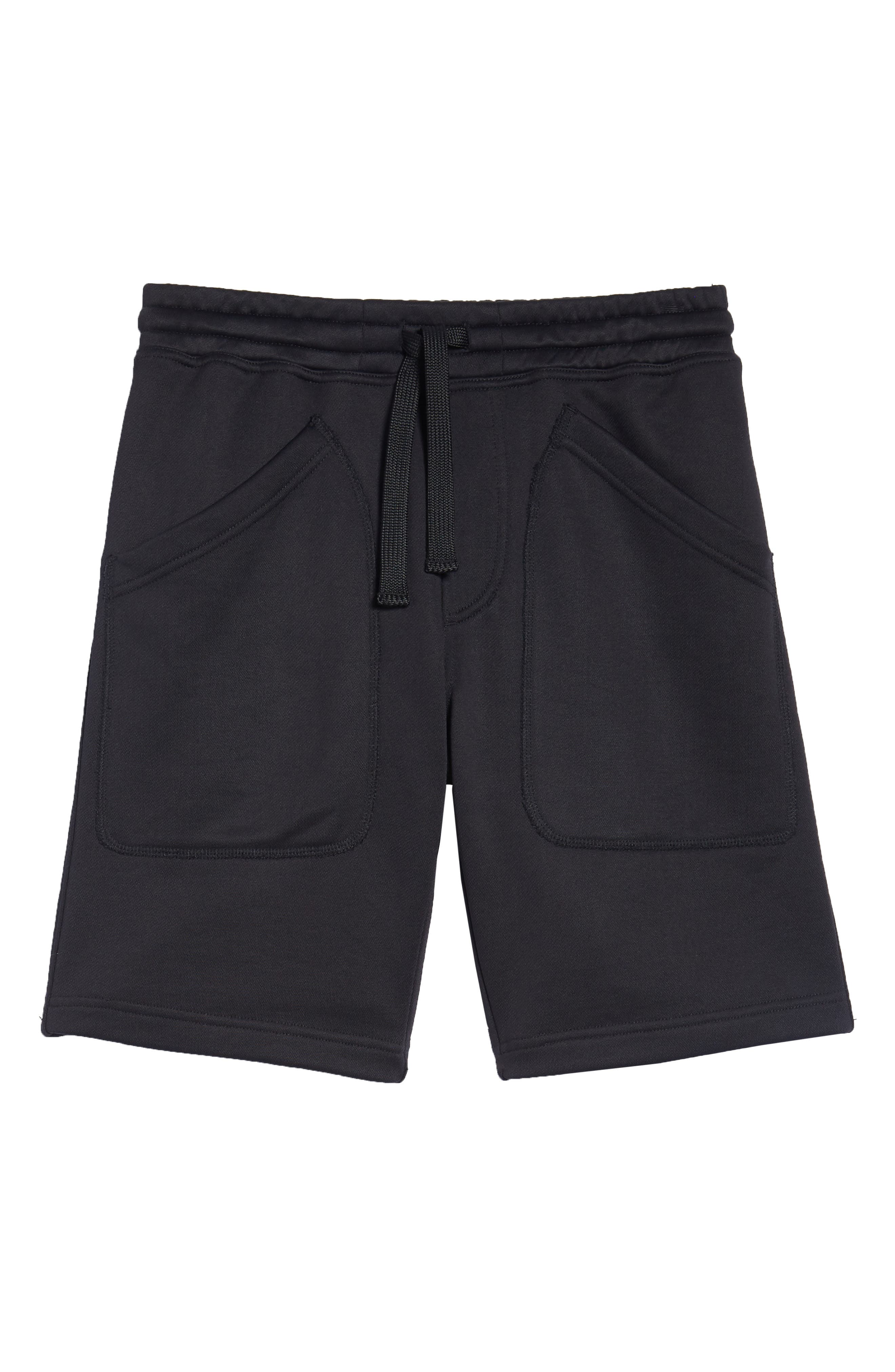 Lux French Terry Shorts,                             Alternate thumbnail 6, color,                             Navy Black
