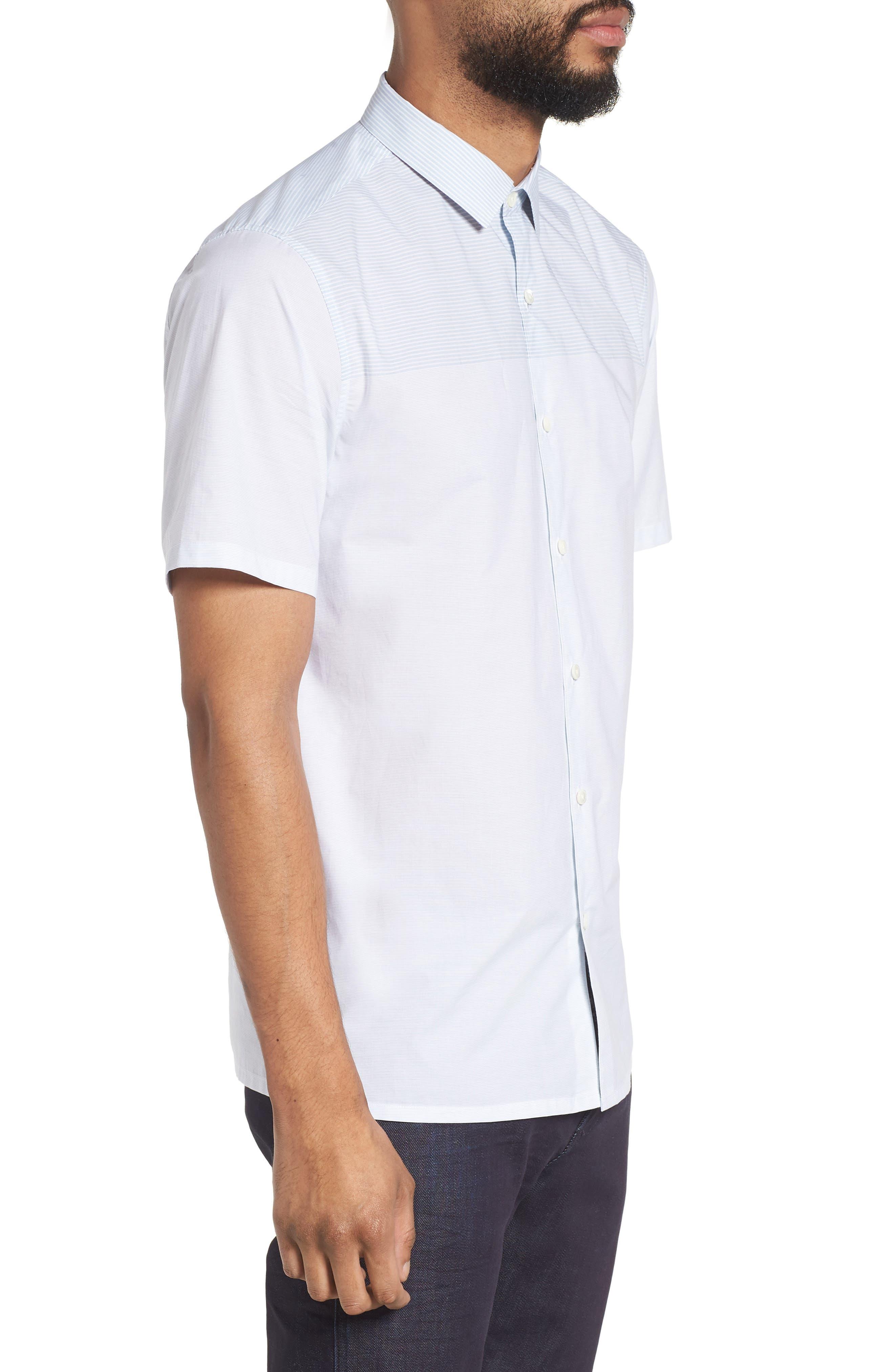 Murrary Regular Fit Stripe Short Sleeve Sport Shirt,                             Alternate thumbnail 3, color,                             Breeze Multi