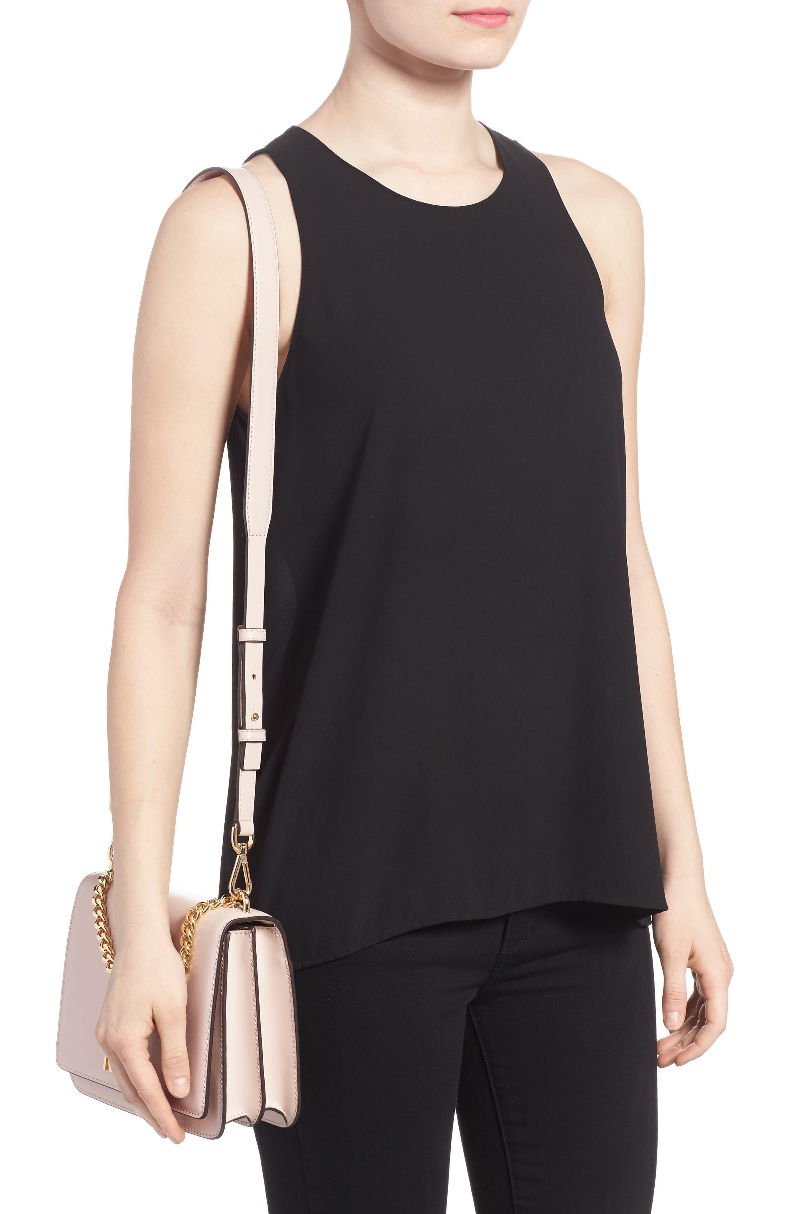 Large Mott Chain Swag Leather Shoulder Bag,                             Alternate thumbnail 2, color,                             Soft Pink