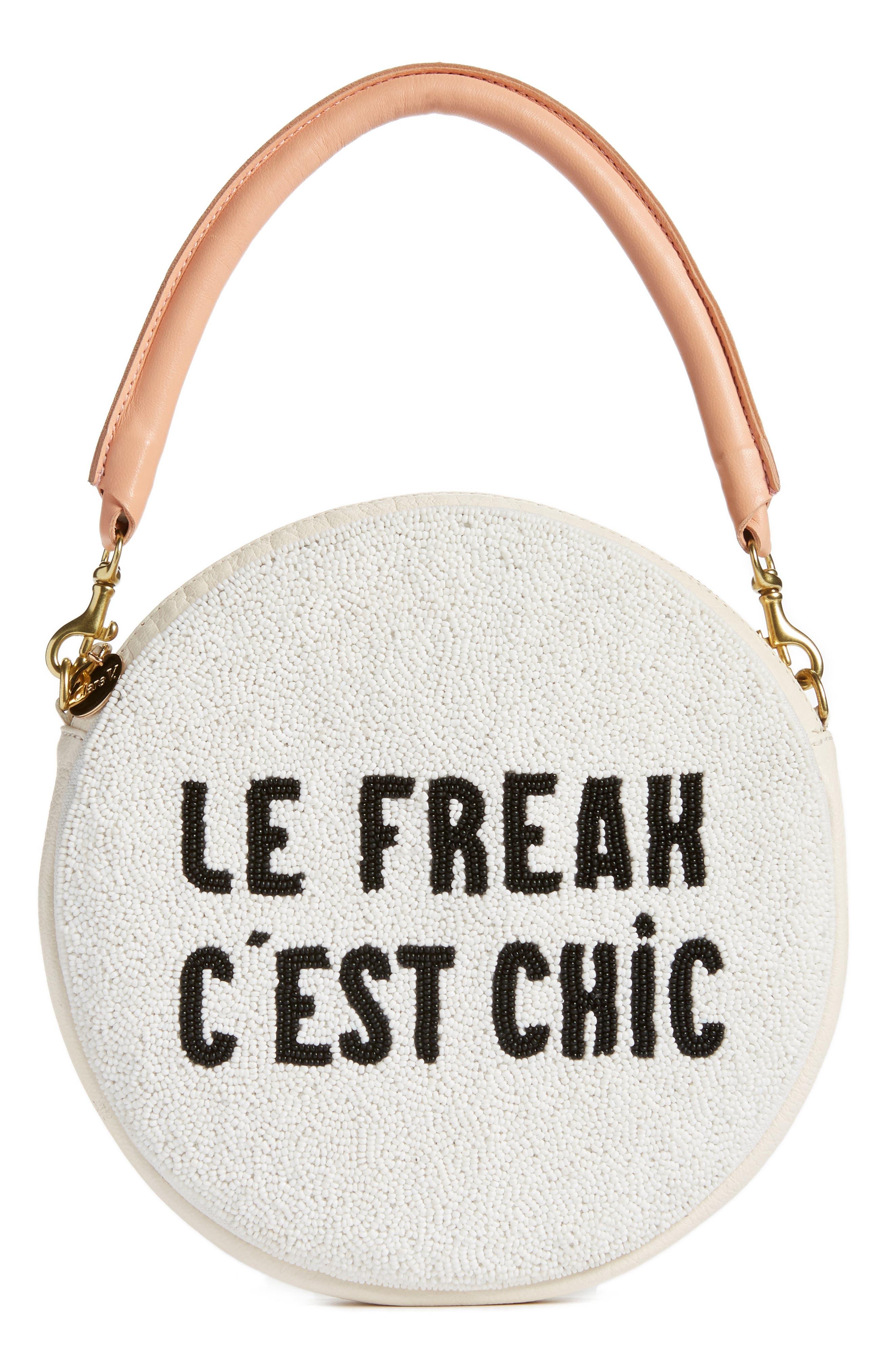 Clare V. Le Freak Beaded Circle Clutch