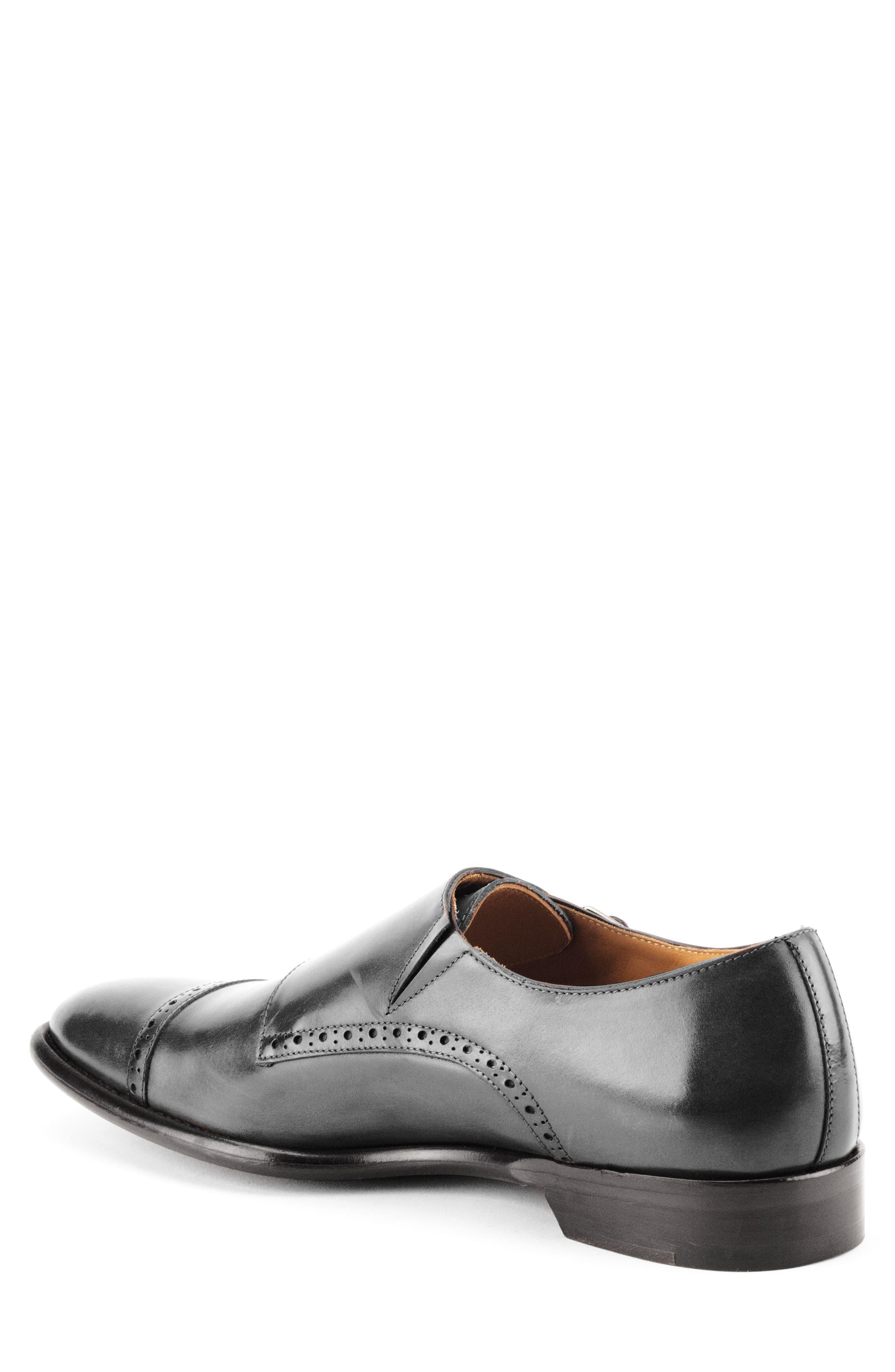 Corbett Cap Toe Double Strap Monk Shoe,                             Alternate thumbnail 2, color,                             Black Leather