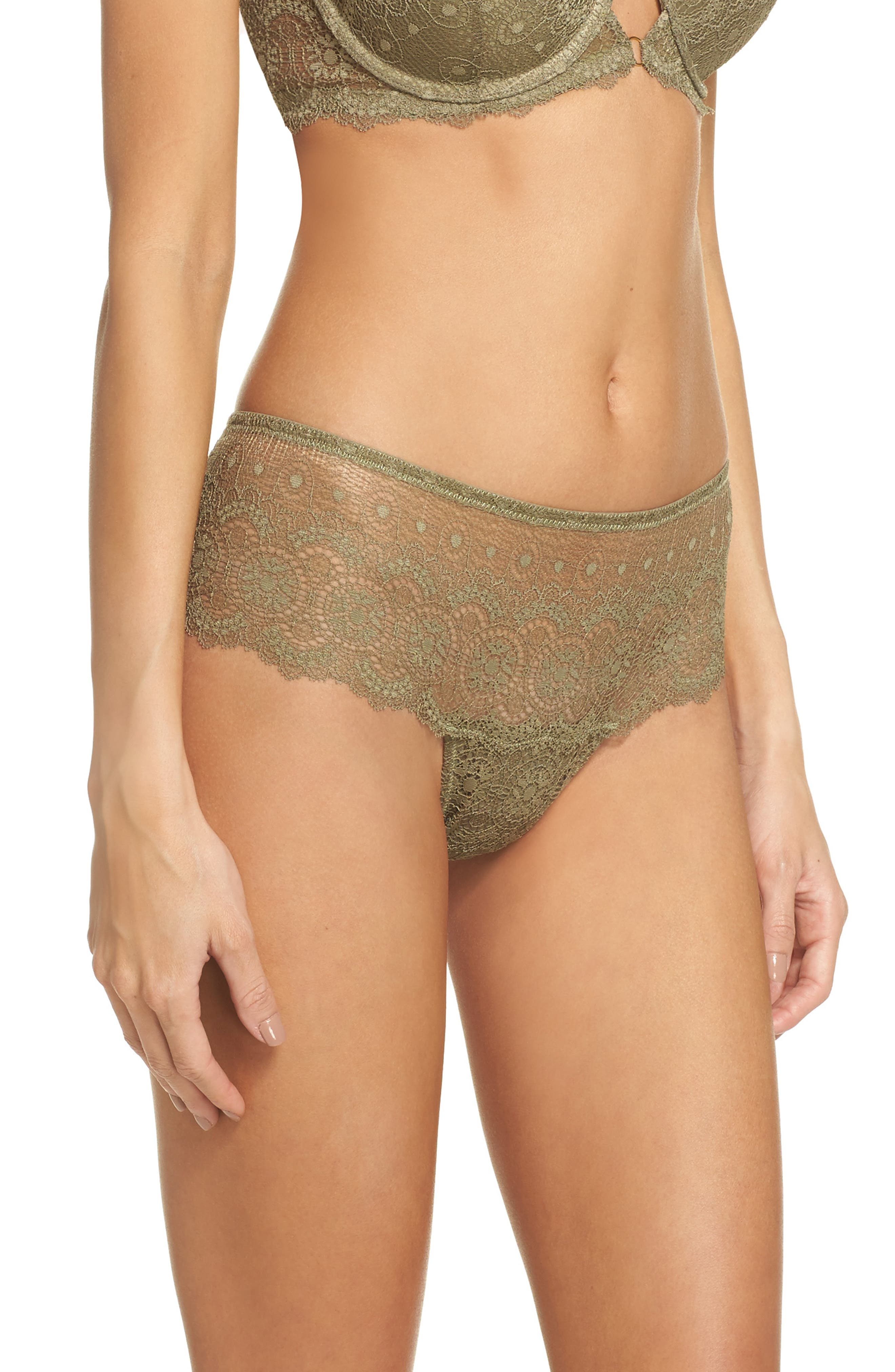 Lace Hipster Panties,                             Alternate thumbnail 3, color,                             Mermaid