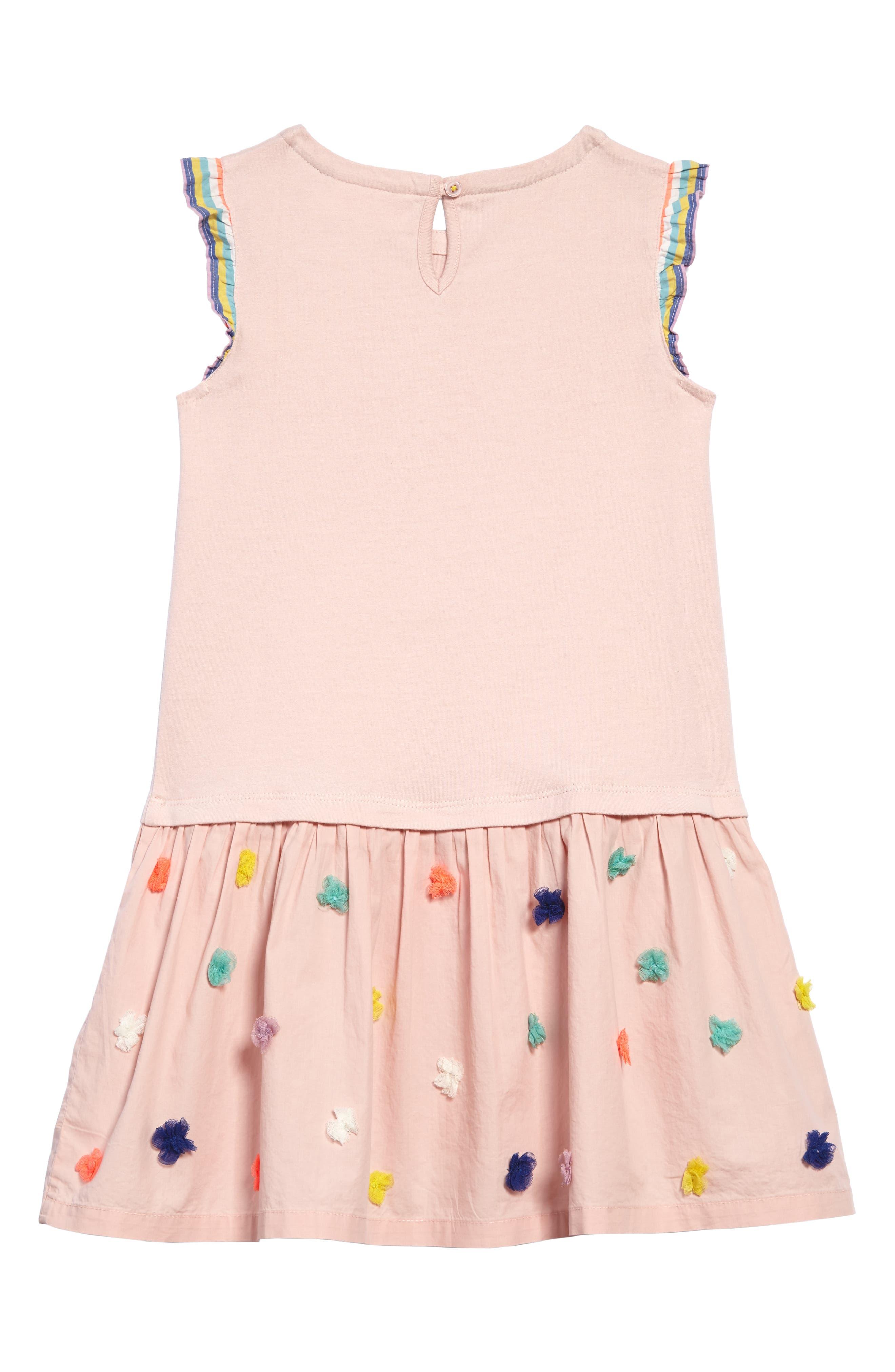 Alternate Image 2  - Mini Boden Fun Knit-to-Woven Dress (Toddler Girls, Little Girls & Big Girls)