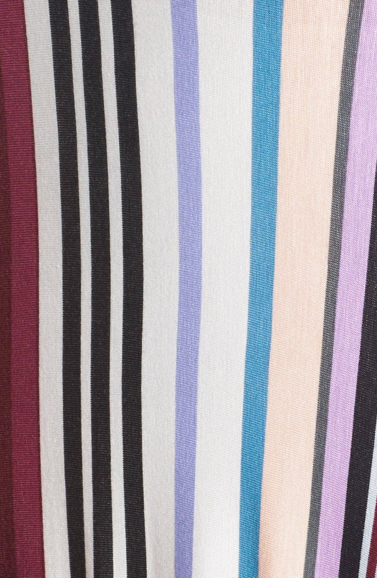 Clemette Strapless Maxi Dress,                             Alternate thumbnail 6, color,                             Purple Multi Stripe