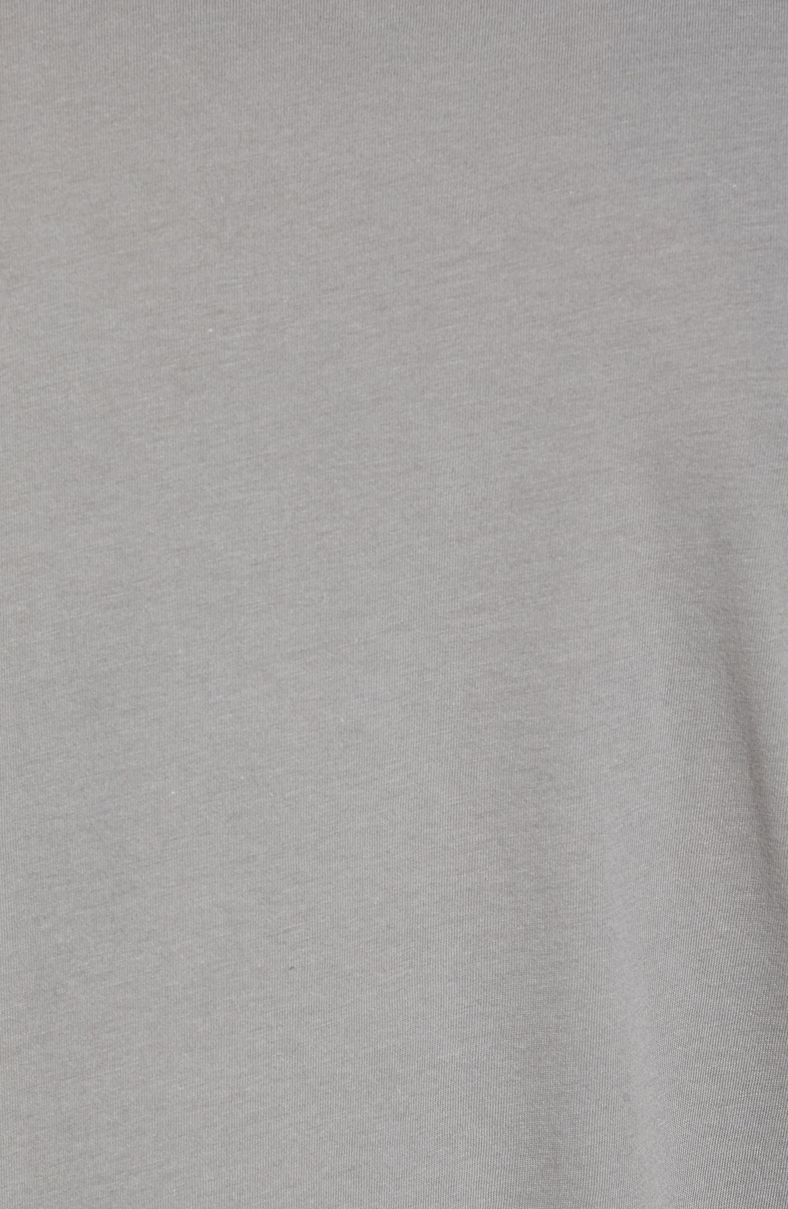 Up & Out Graphic Organic Cotton T-Shirt,                             Alternate thumbnail 5, color,                             Feather Grey