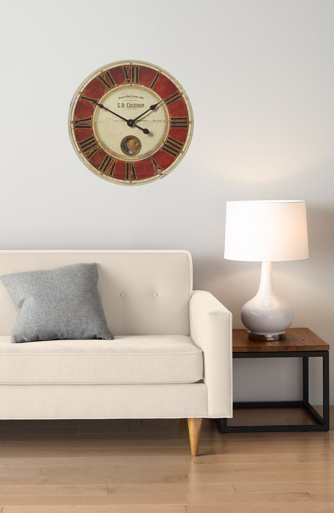 'Chieron' Wall Clock,                             Alternate thumbnail 2, color,                             Red