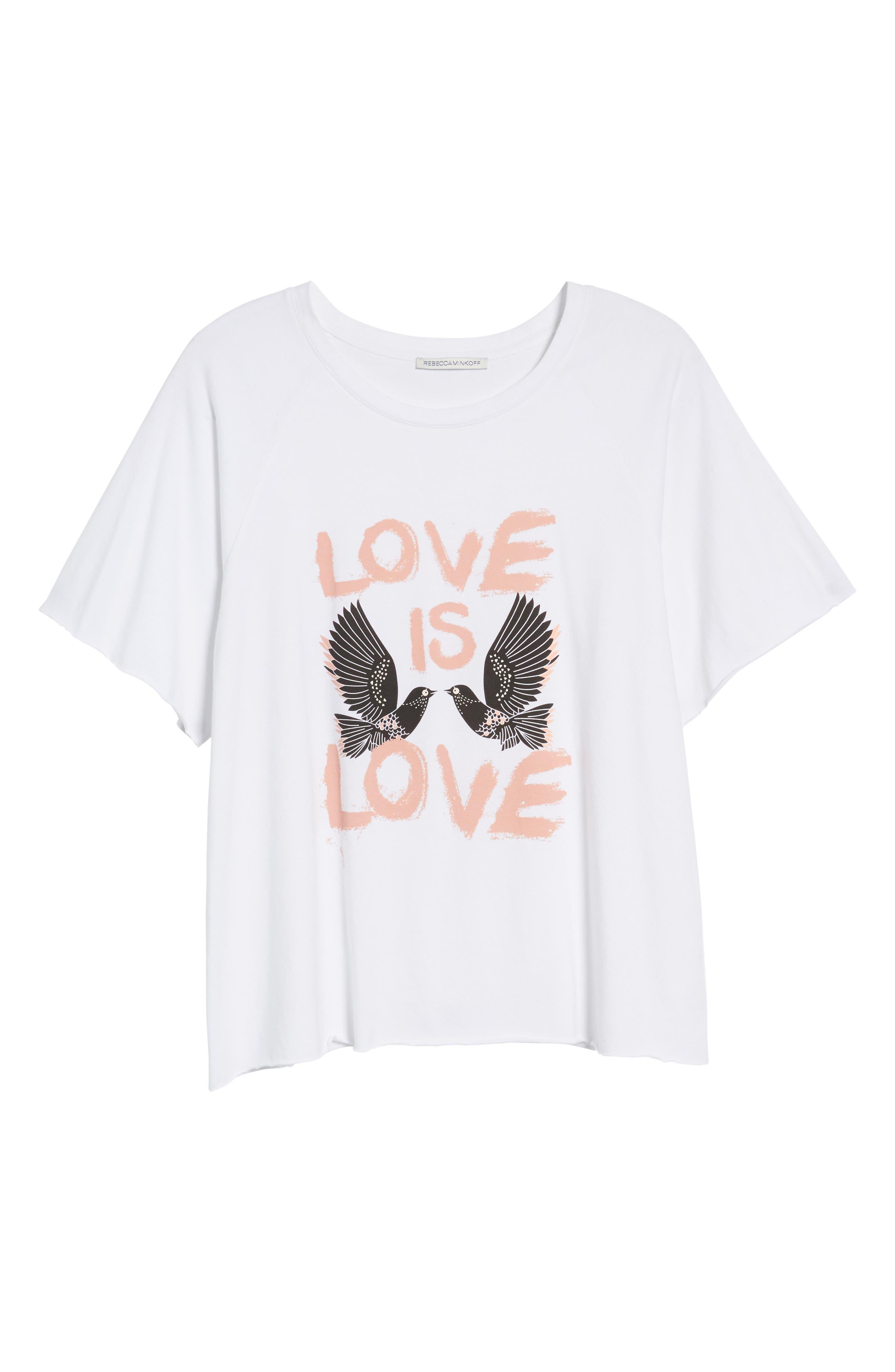 Love Birds Lombardo Tee,                             Alternate thumbnail 7, color,                             White/ Multi