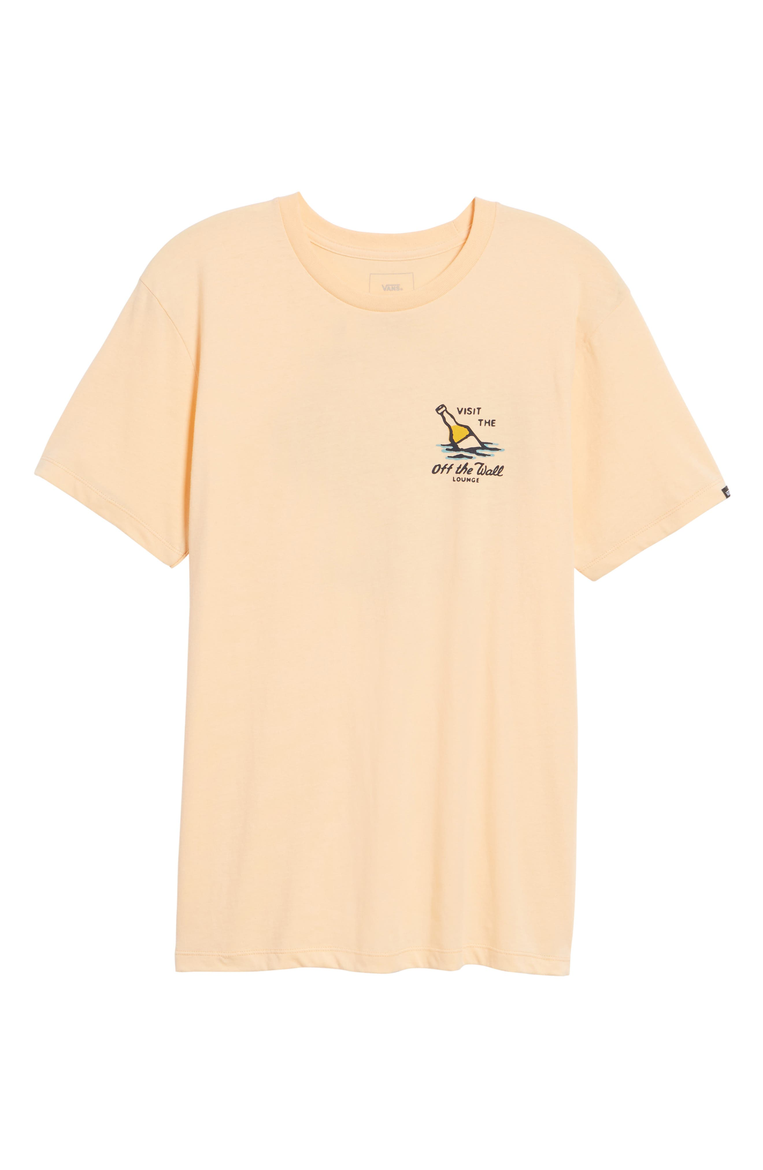 Off the Wall Lounge T-Shirt,                             Alternate thumbnail 6, color,                             Apricot Ice