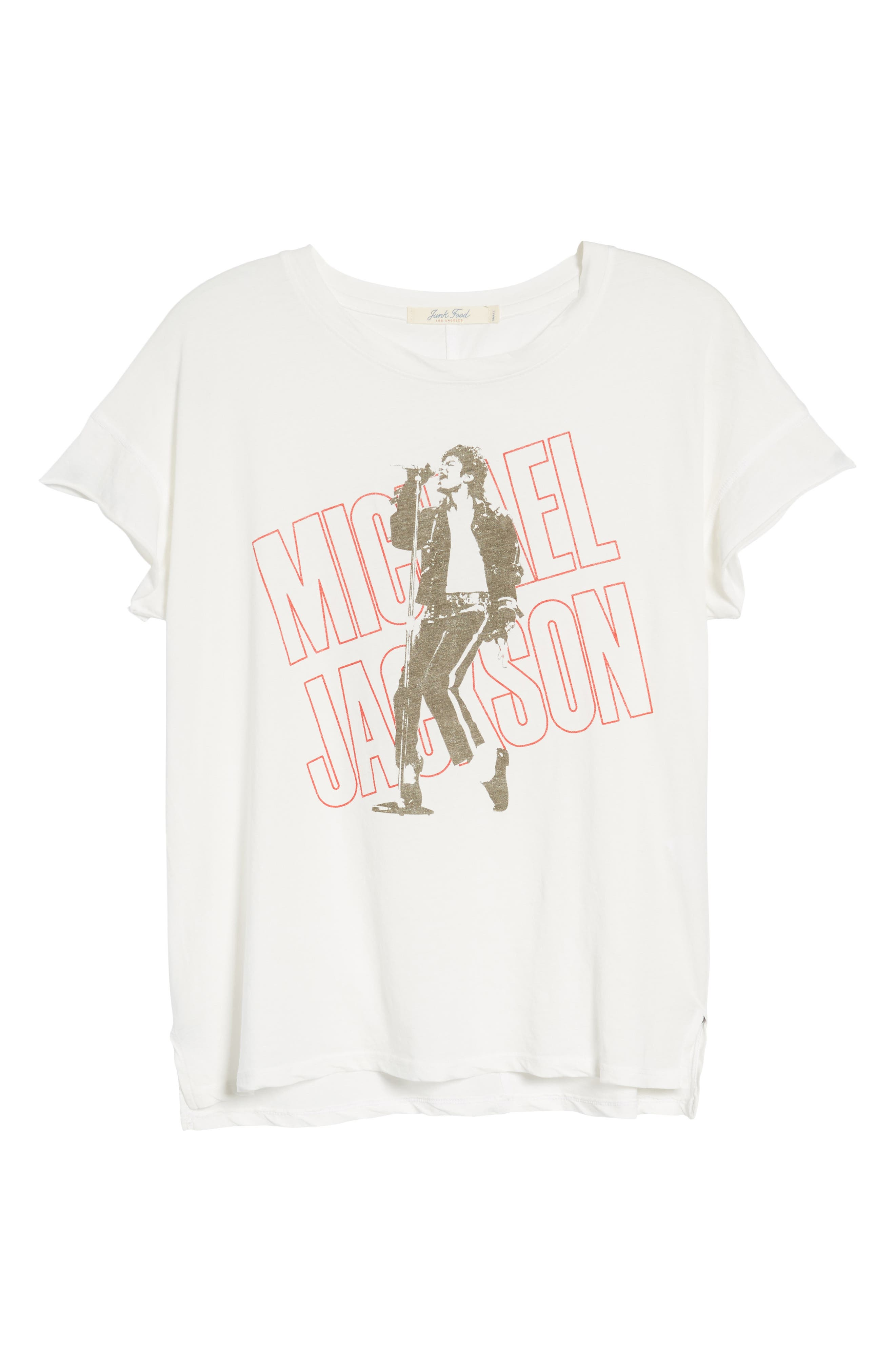 Michael Jackson Tee,                             Alternate thumbnail 6, color,                             Vintage White