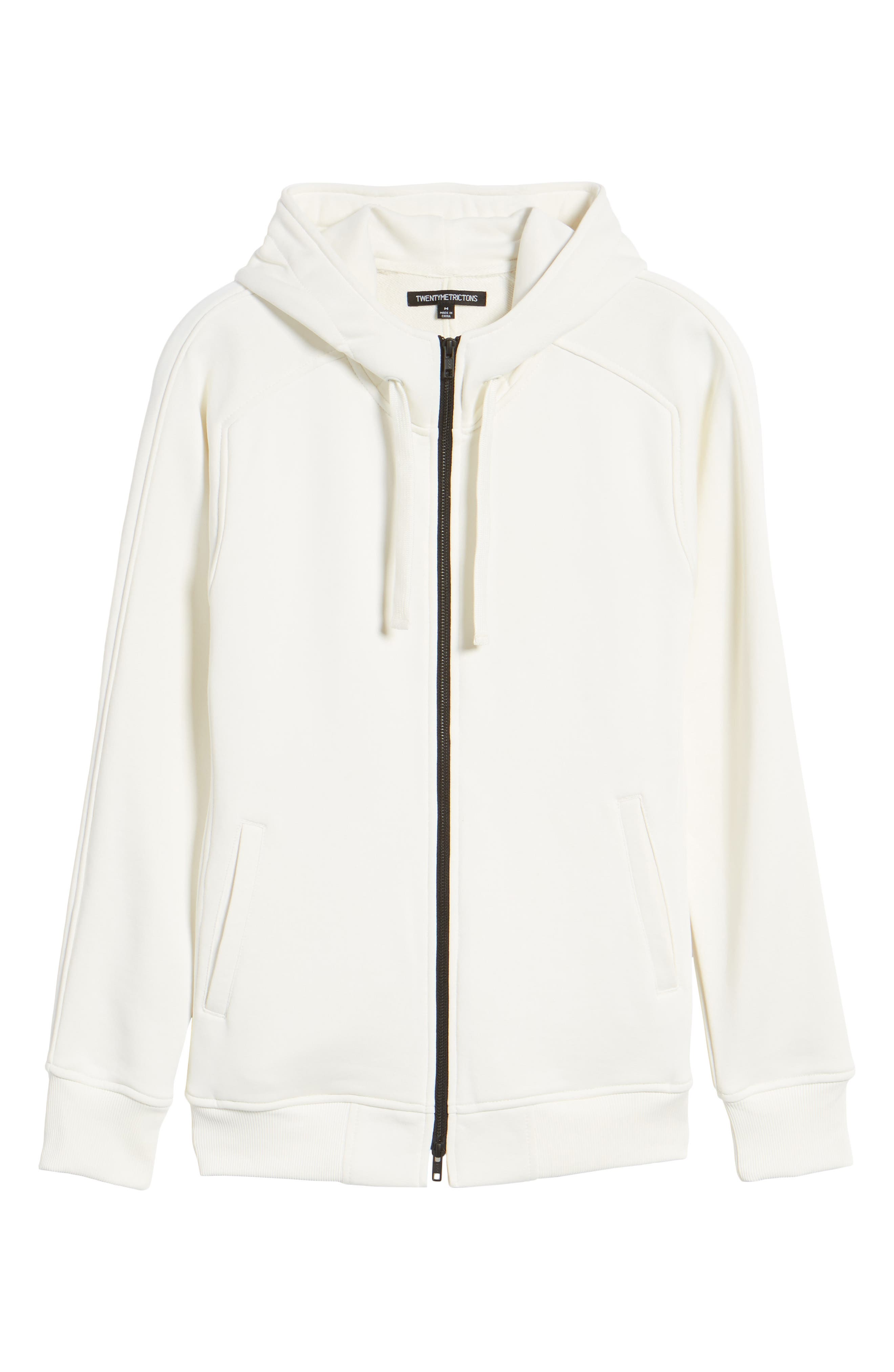The Lux Full Zip Hoodie,                             Alternate thumbnail 6, color,                             Creme