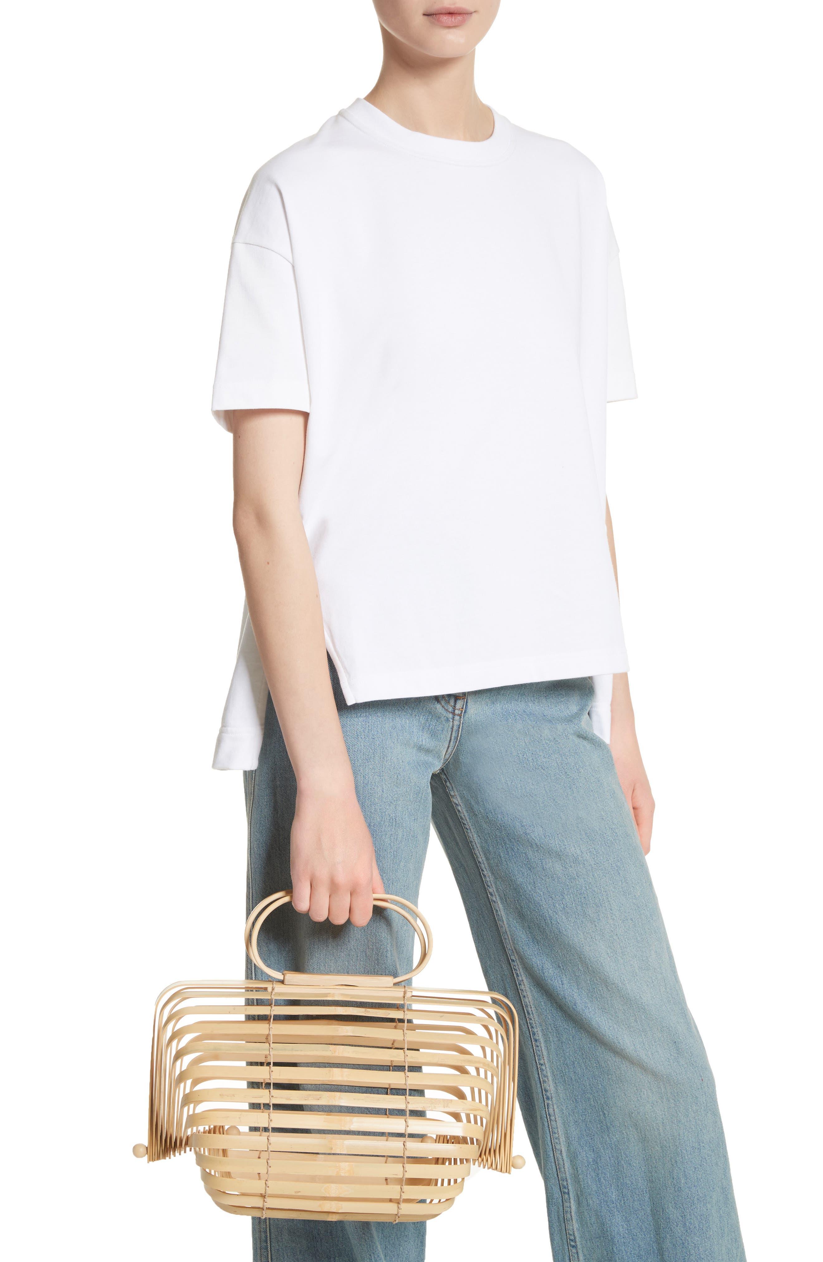 The Lilleth Bamboo Handbag,                             Alternate thumbnail 2, color,                             Natural