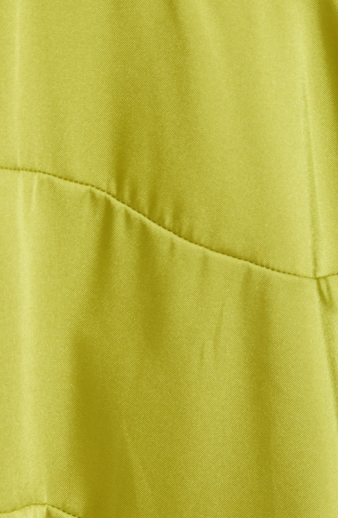 Magdalone Asymmetrical Paneled Satin Top,                             Alternate thumbnail 6, color,                             Chartreuse