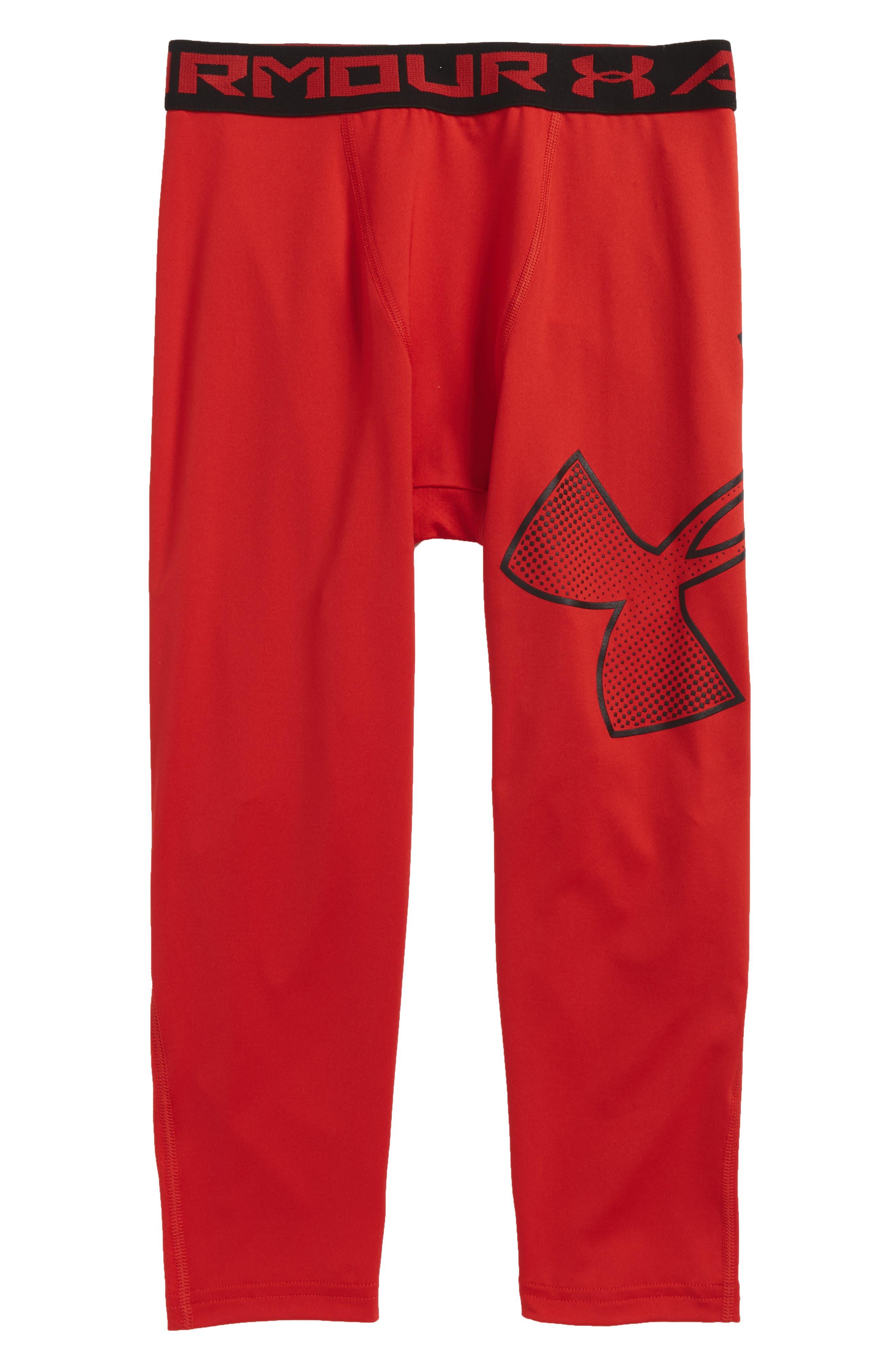 Main Image - Under Armour Logo HeatGear® 3/4 Leggings (Little Boys & Big Boys)