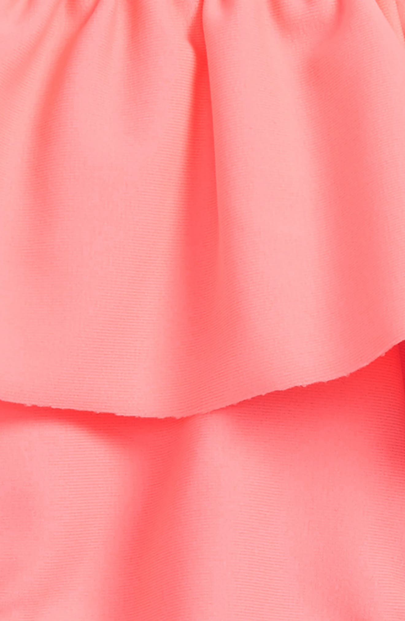 Solid Ruffle Bikini Bottoms,                             Alternate thumbnail 2, color,                             Parasol Pink