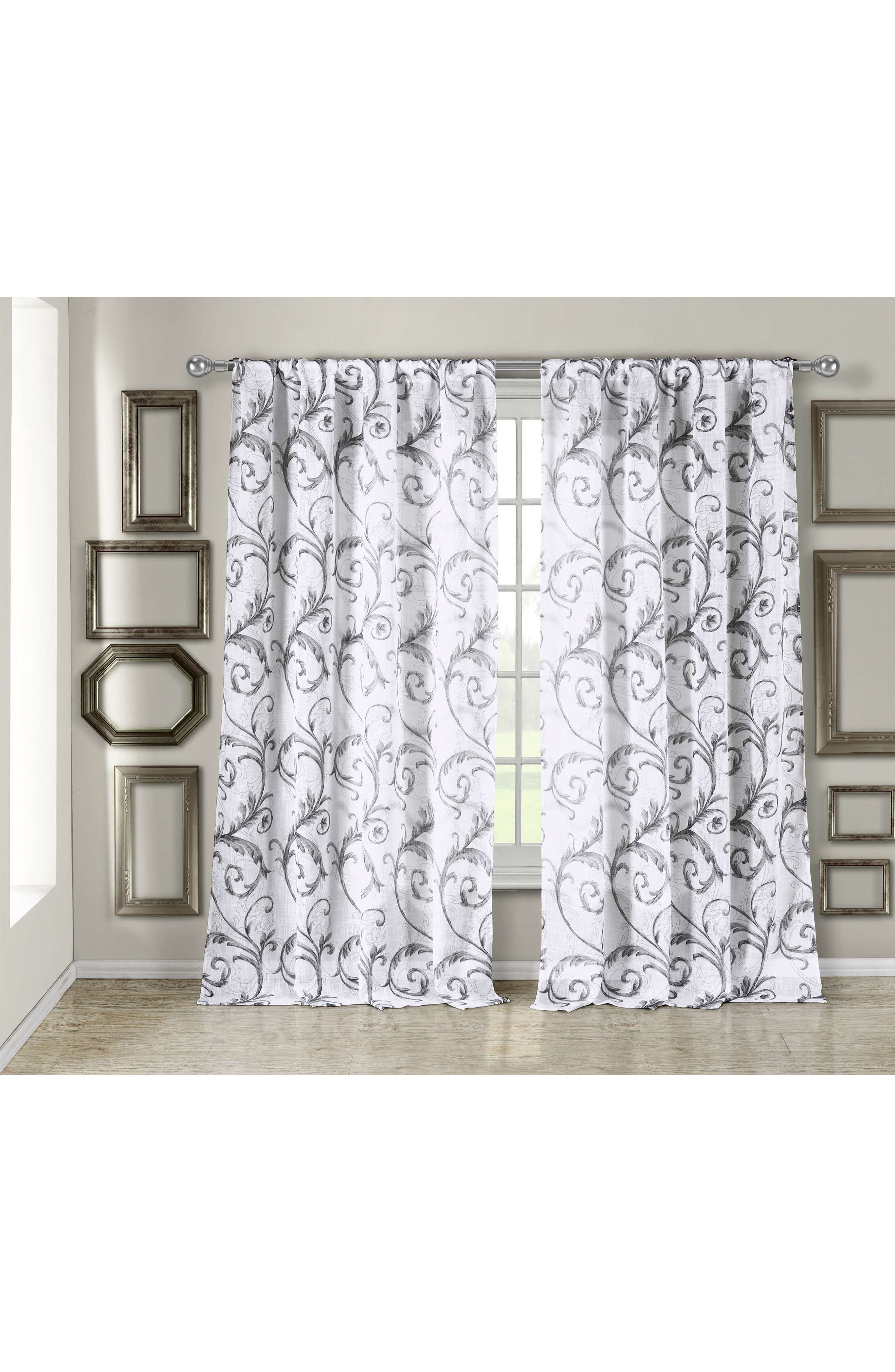 Bria Window Panel,                             Main thumbnail 1, color,                             Silver Metallic