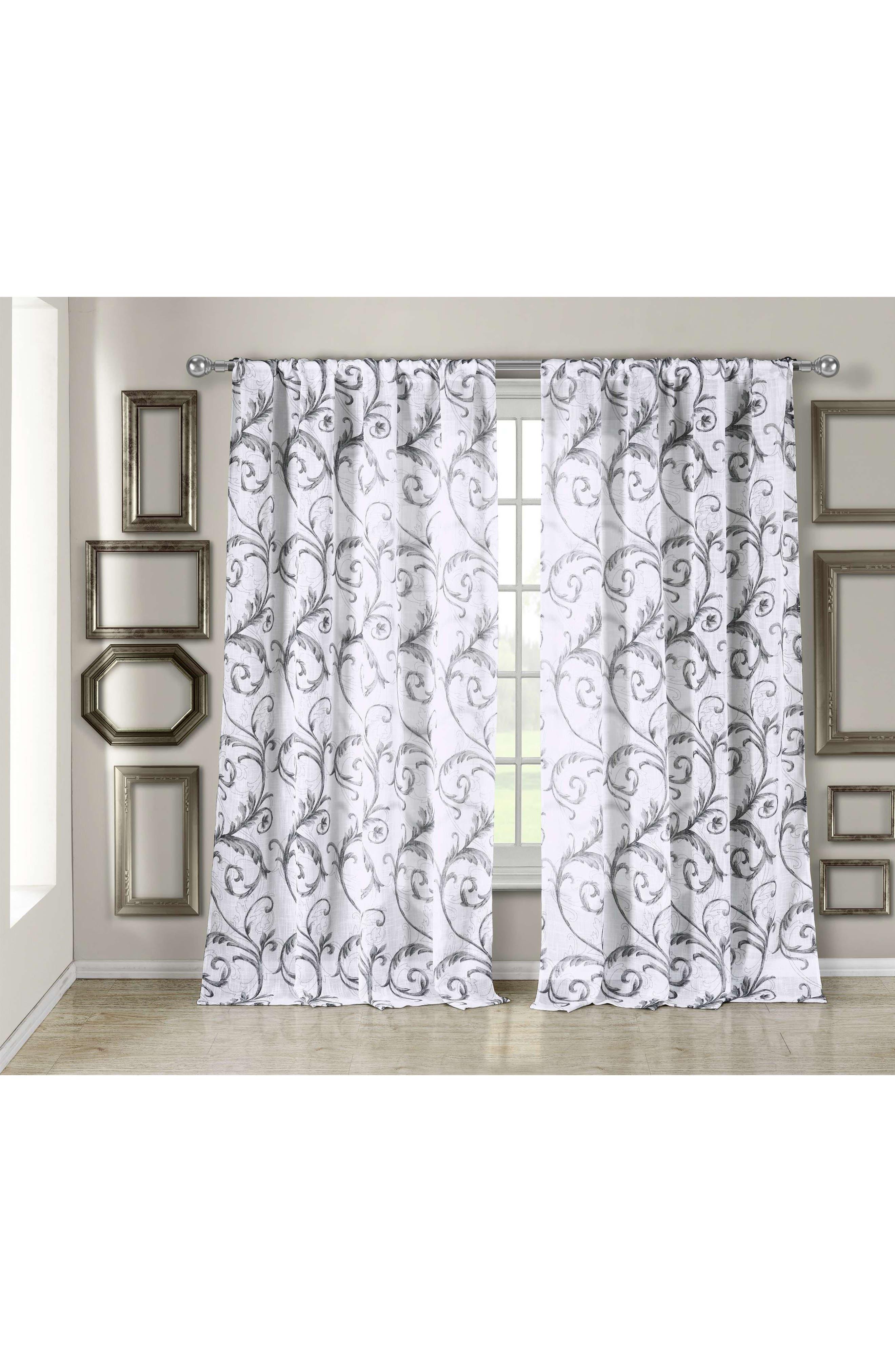 Bria Window Panel,                         Main,                         color, Silver Metallic