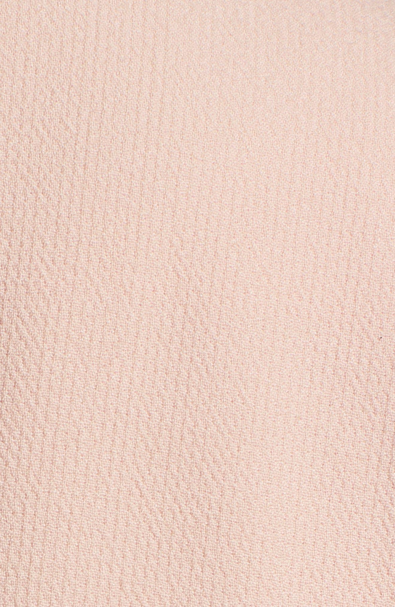 Tie Waist Suit Jacket,                             Alternate thumbnail 5, color,                             Pink Smoke