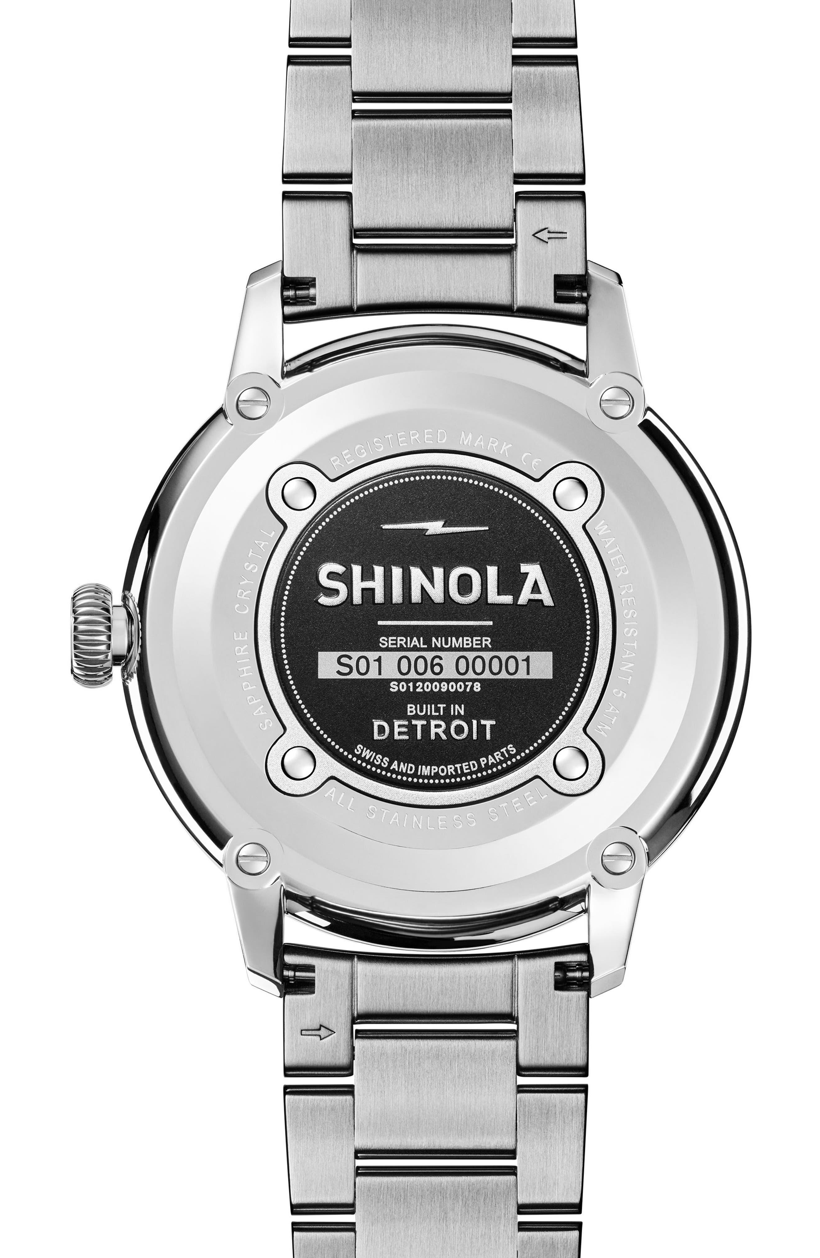 Alternate Image 2  - Shinola Bedrock Bracelet Watch, 42mm