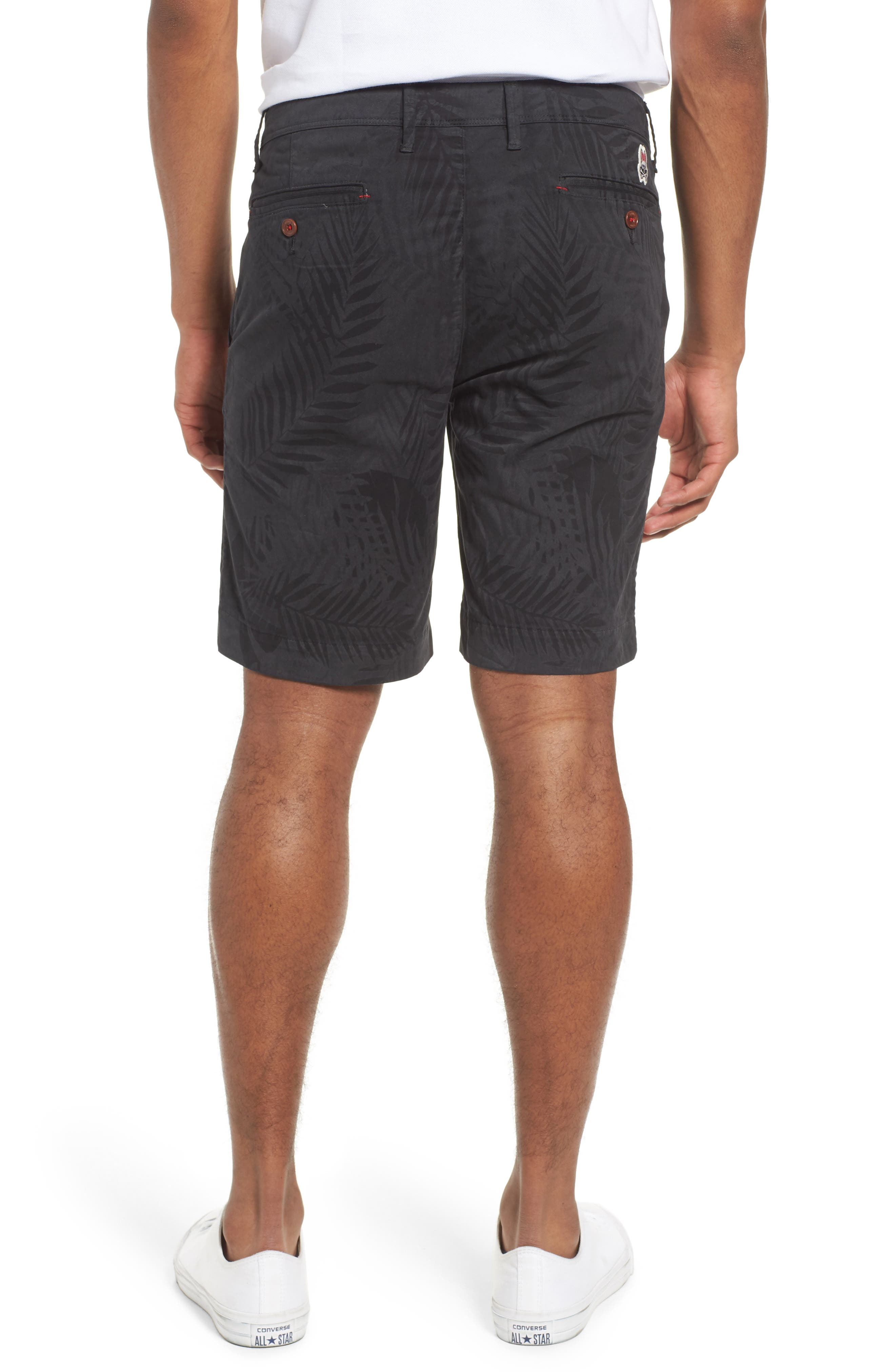 Psycho Bunny Tropical Shorts,                             Alternate thumbnail 2, color,                             Black