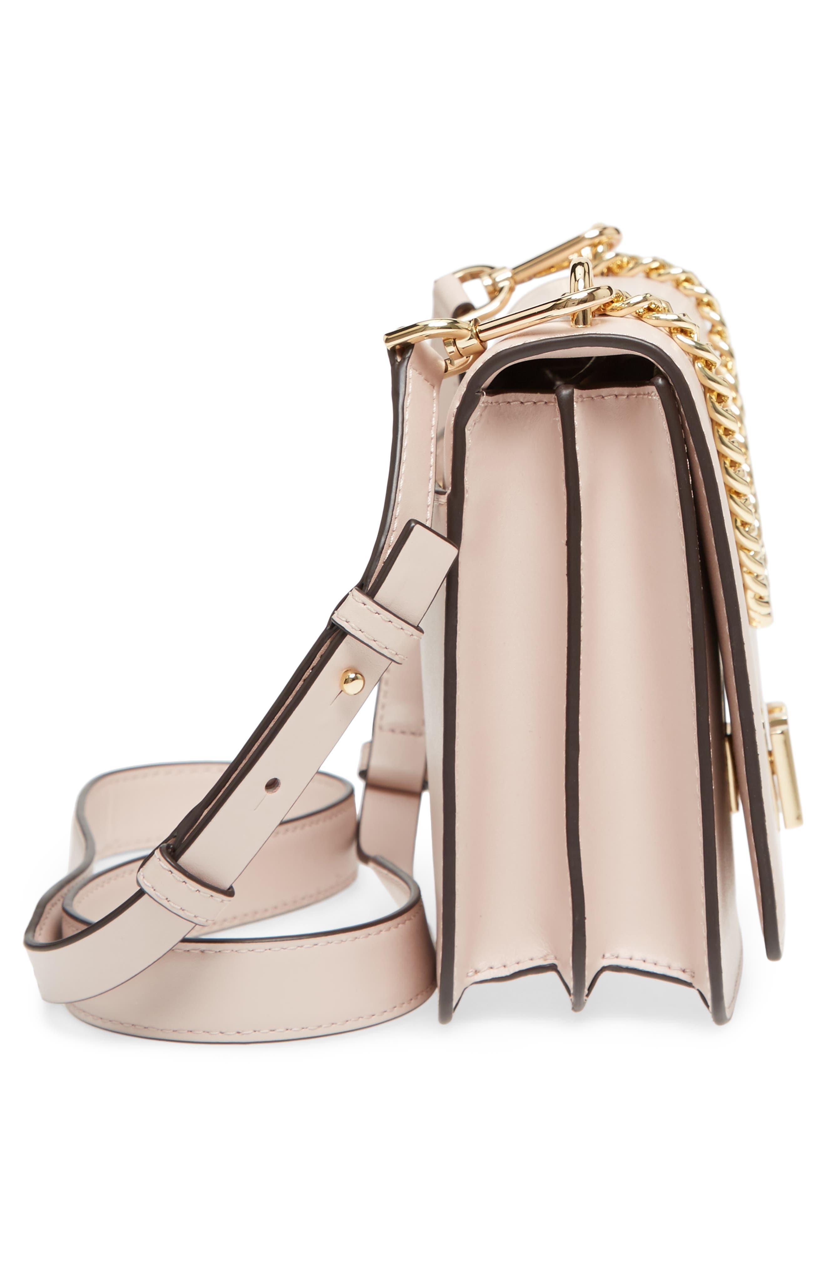 Large Mott Chain Swag Leather Shoulder Bag,                             Alternate thumbnail 5, color,                             Soft Pink