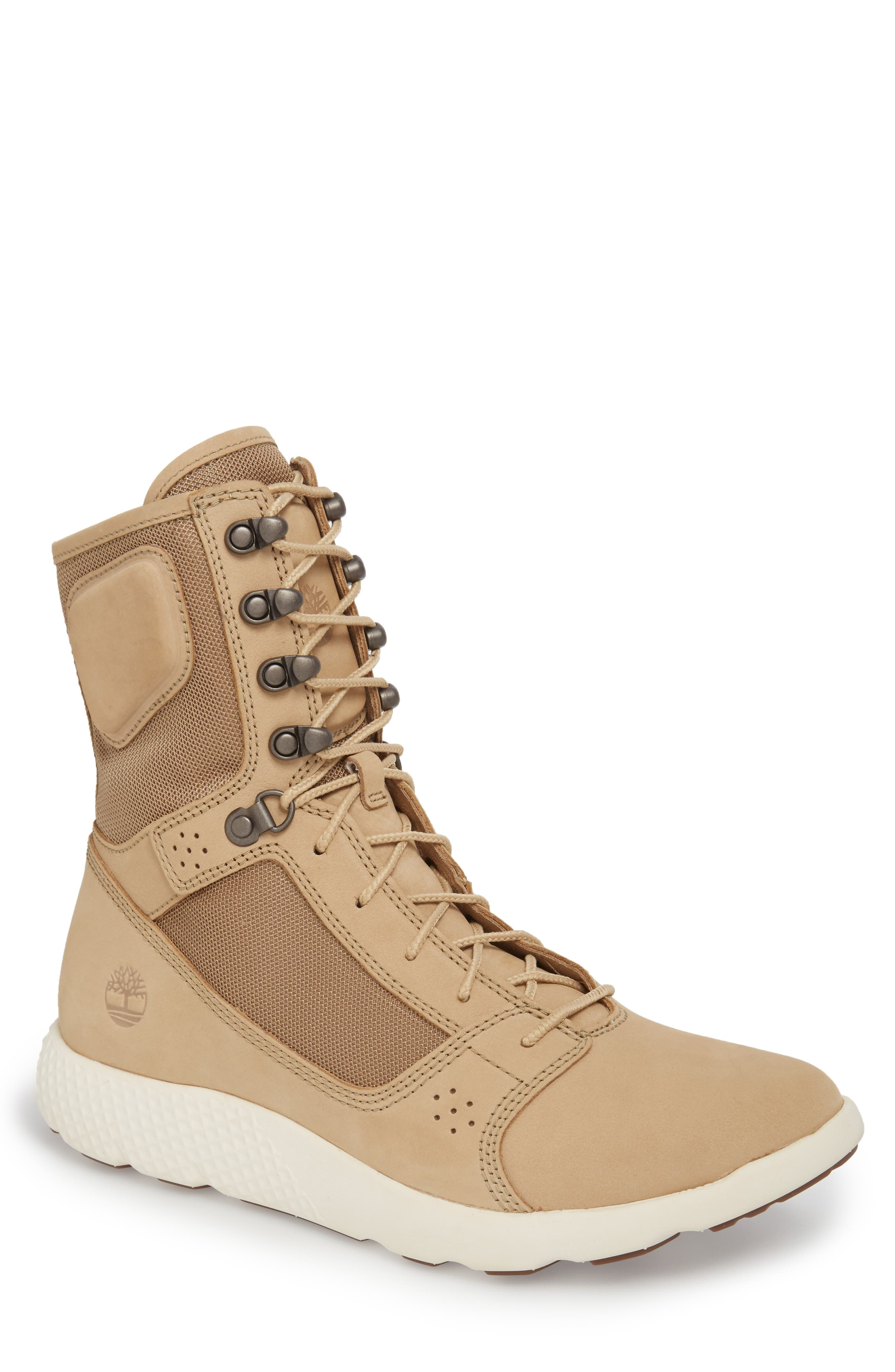 FlyRoam Tactical Boot,                             Main thumbnail 1, color,                             Cornstalk Nubuck Leather