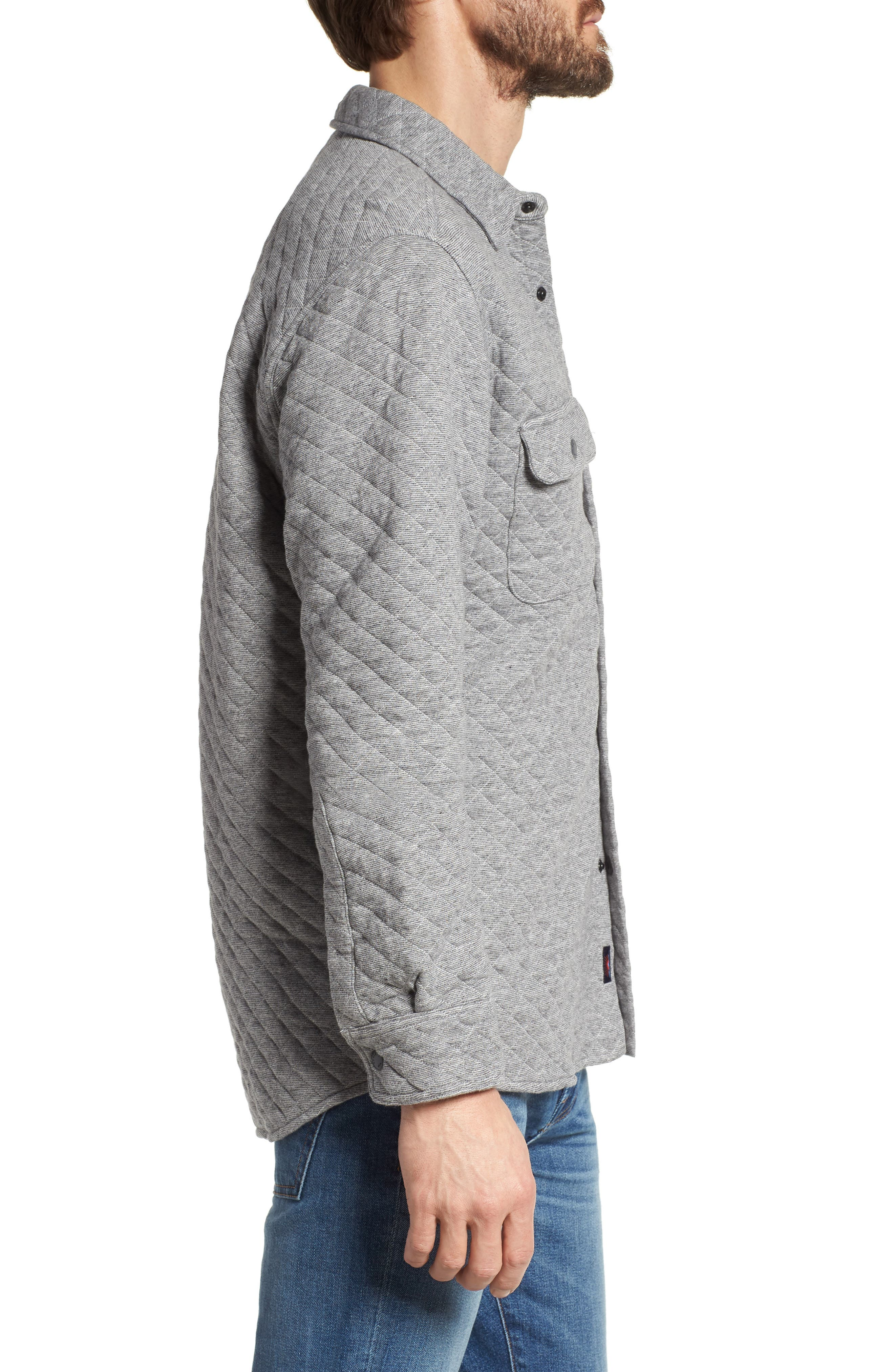 Alternate Image 3  - Faherty Belmar Quilted Snap Shirt Jacket