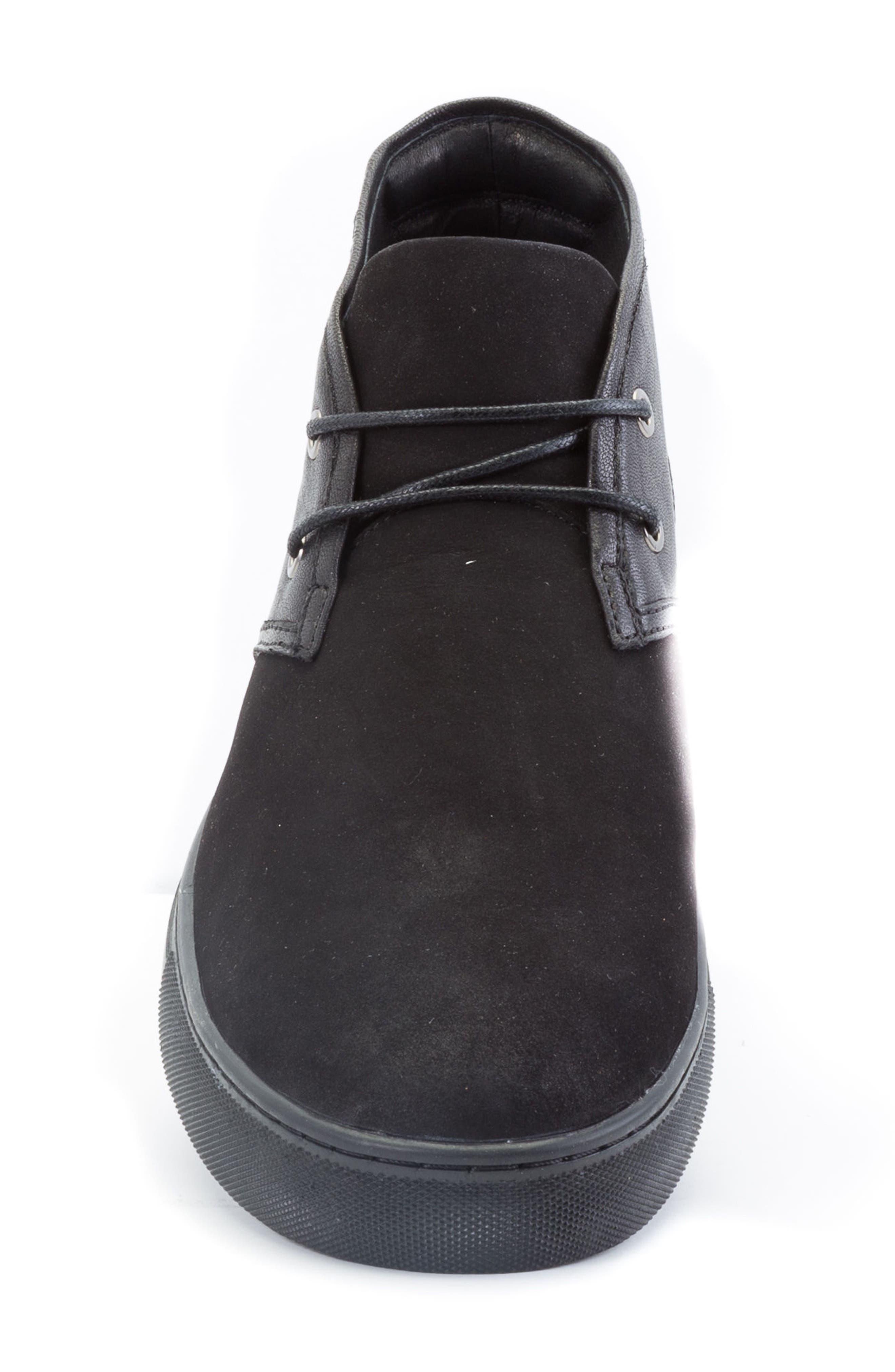Catlett Chukka Sneaker,                             Alternate thumbnail 4, color,                             Black Suede/ Leather