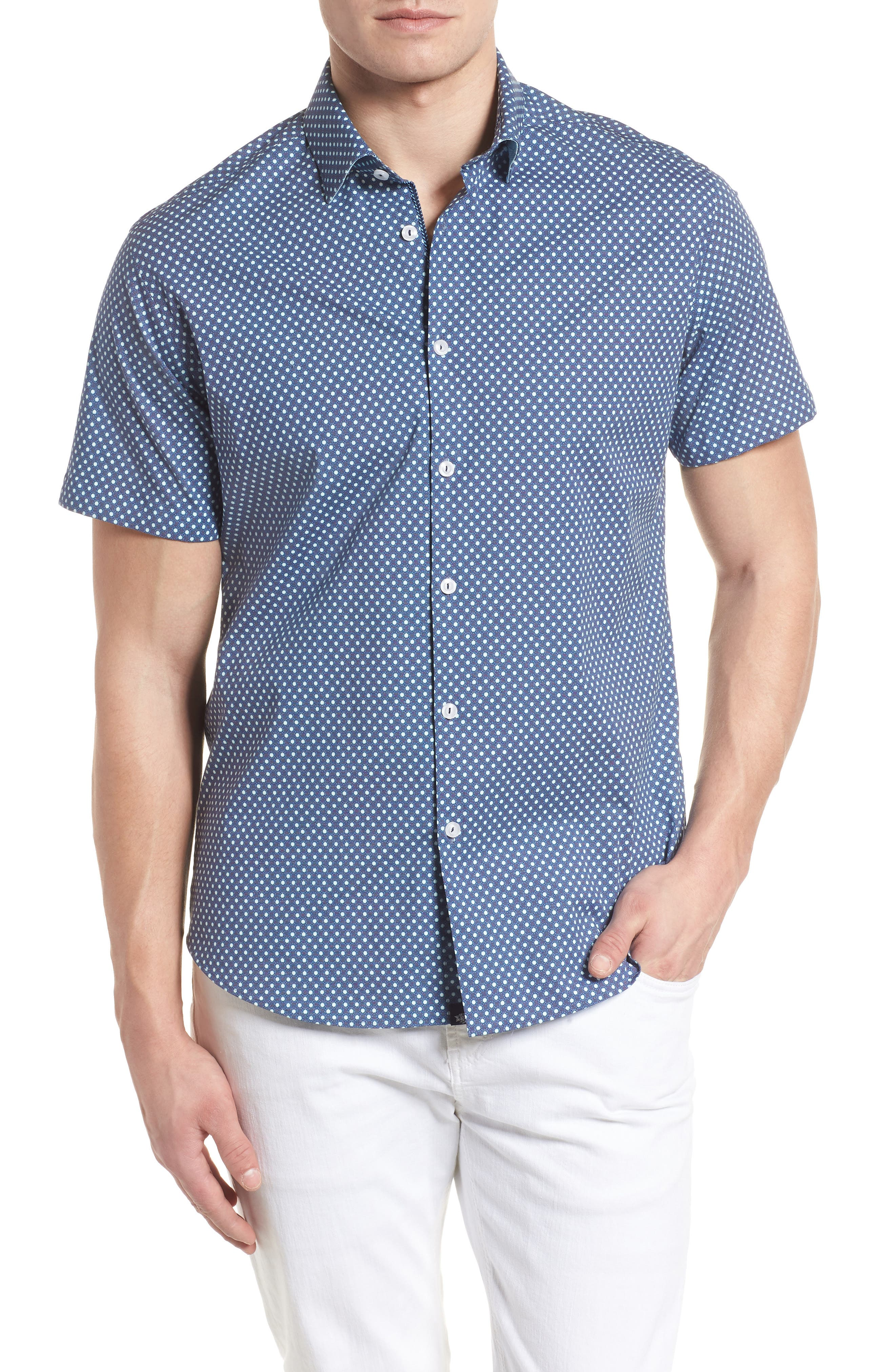 Main Image - Stone Rose Woven Sport Shirt