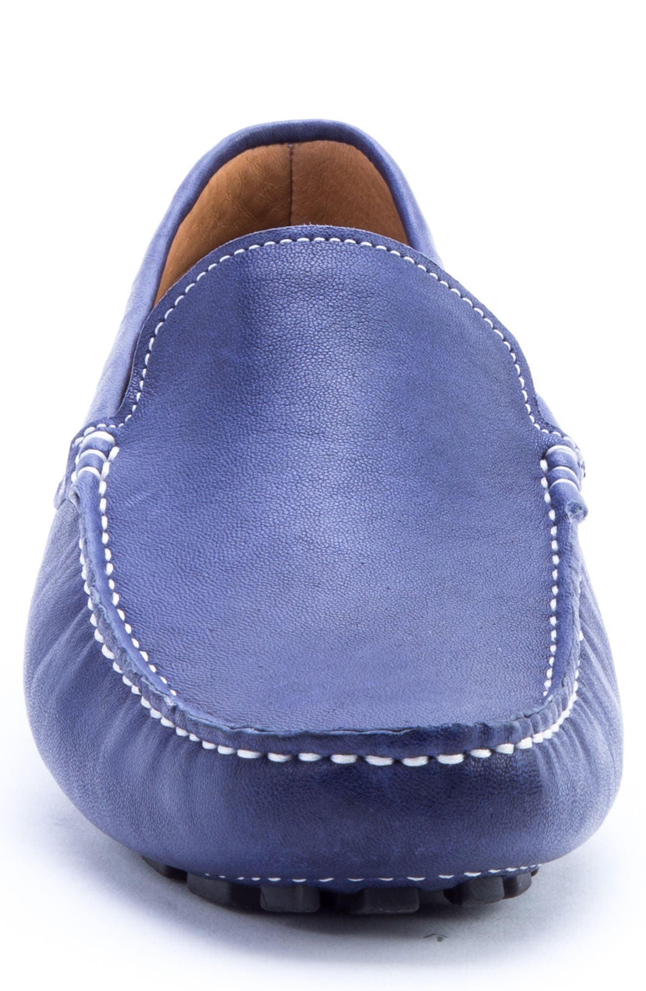 Picasso 3 Moc Toe Driving Loafer,                             Alternate thumbnail 4, color,                             Blue Leather