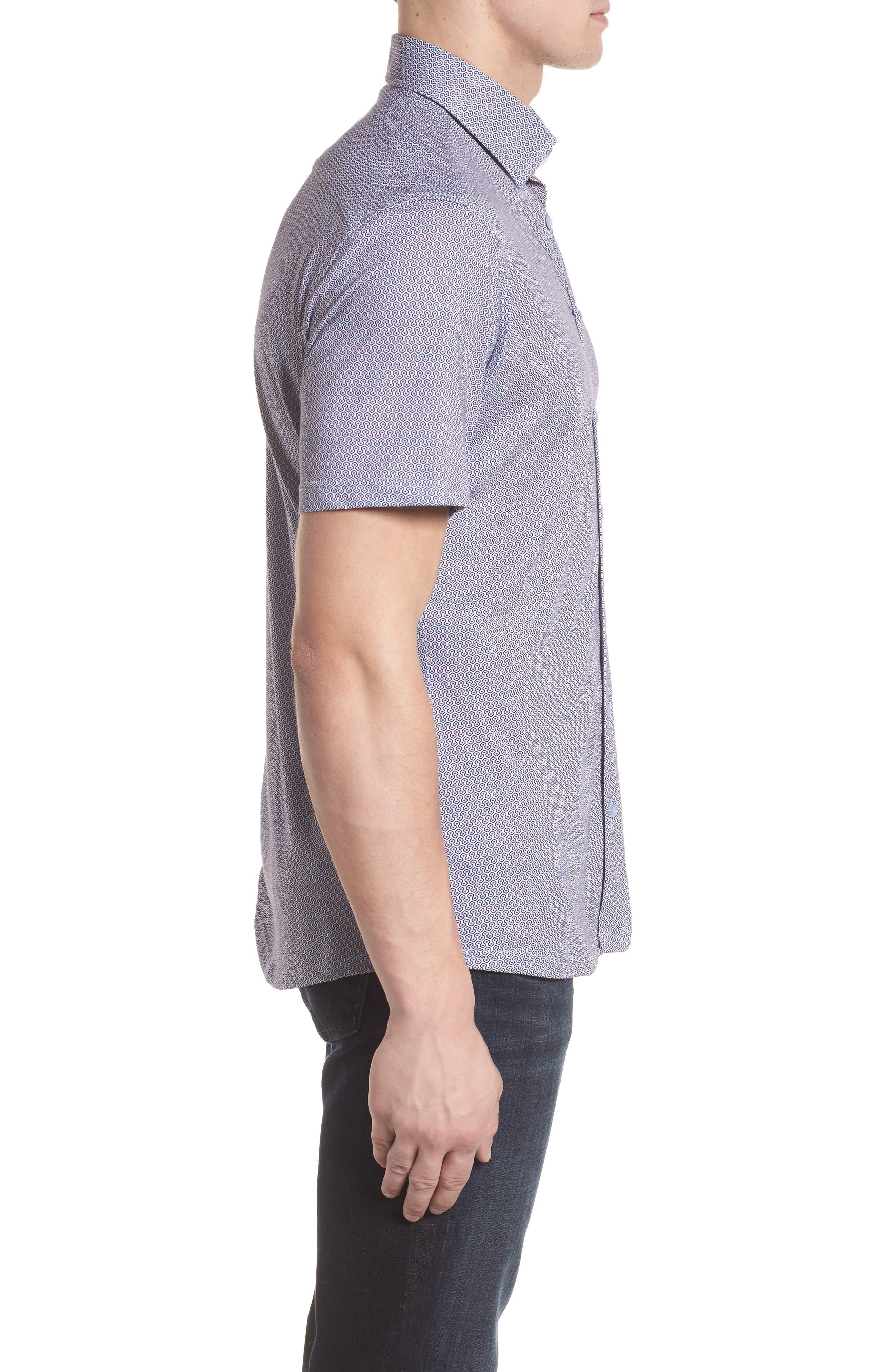 Knit Sport Shirt,                             Alternate thumbnail 3, color,                             Pink