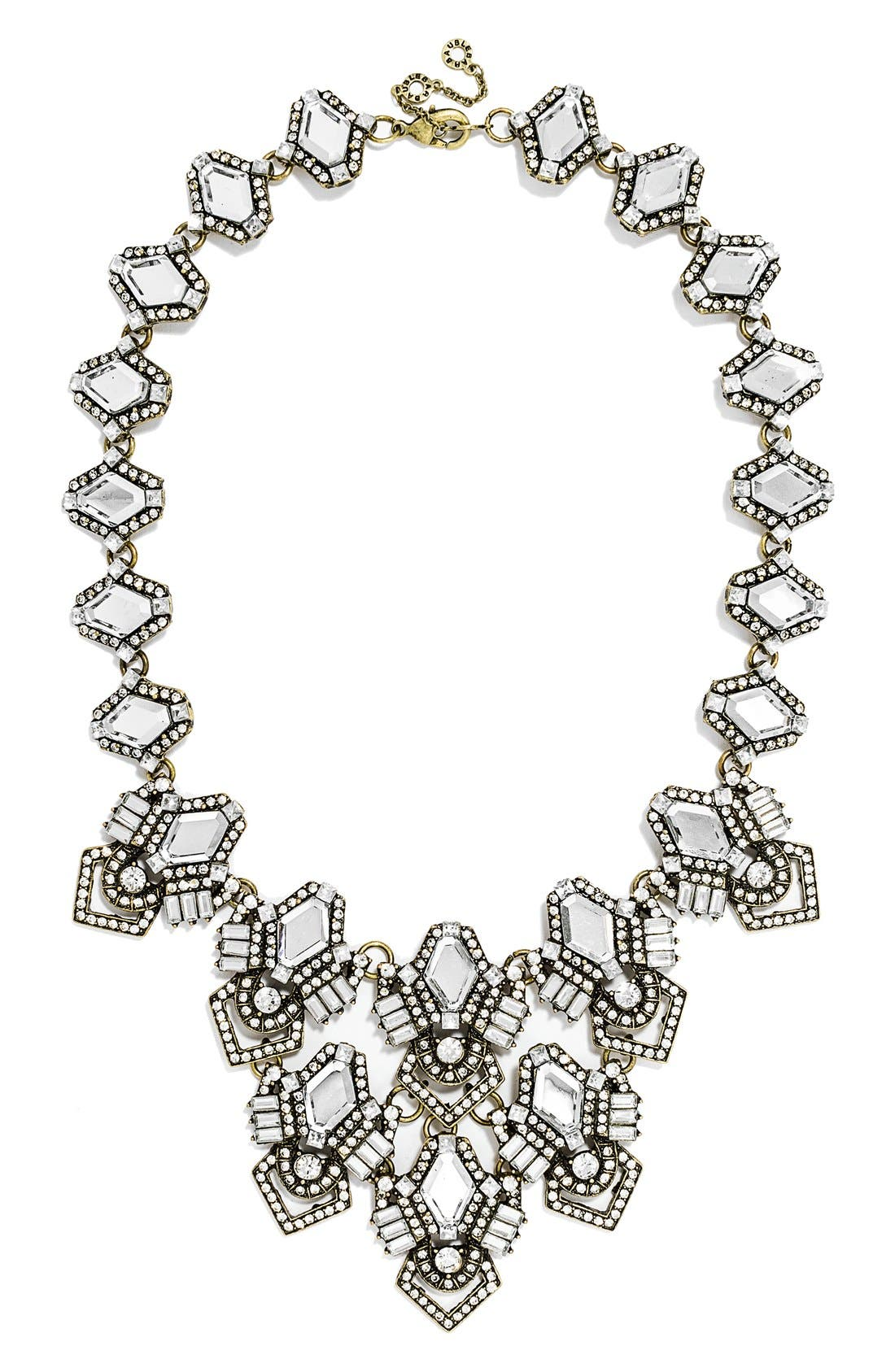 Alternate Image 1 Selected - BaubleBar 'Deco Diamond' Bib Necklace