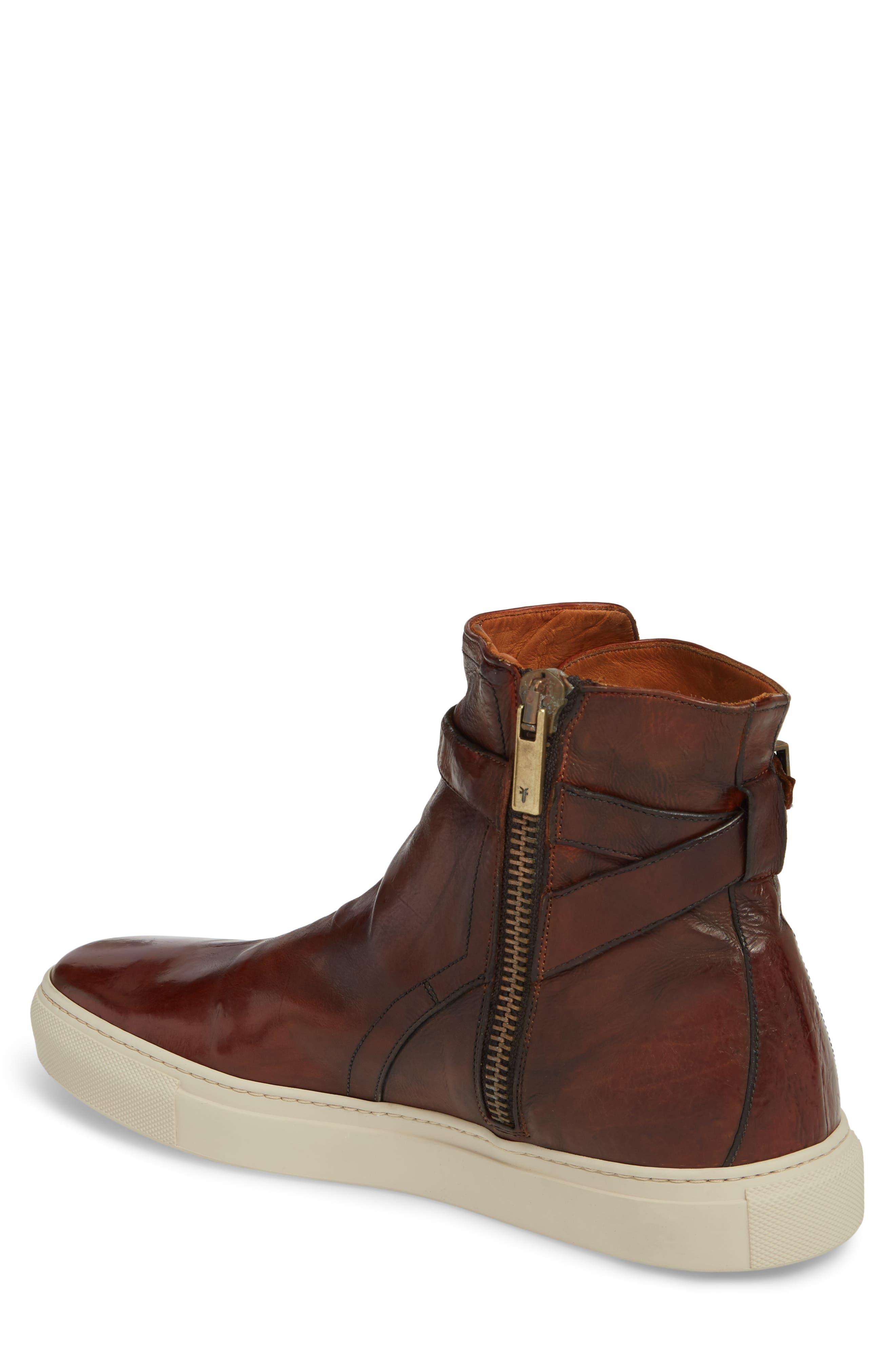 Owen Jodhpur High Top Sneaker,                             Alternate thumbnail 2, color,                             Redwood Leather