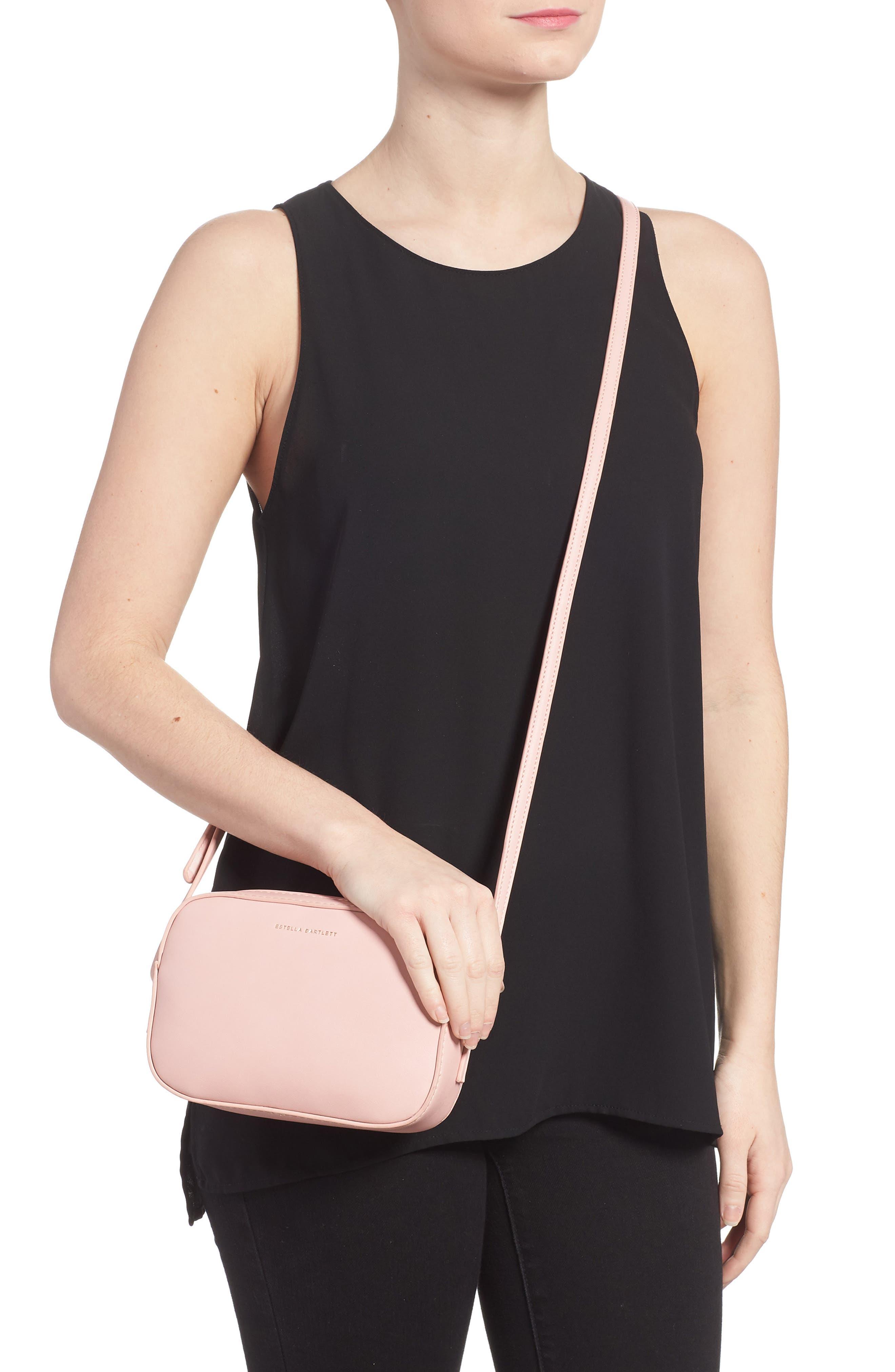 Faux Leather Box Bag,                             Alternate thumbnail 2, color,                             Pink
