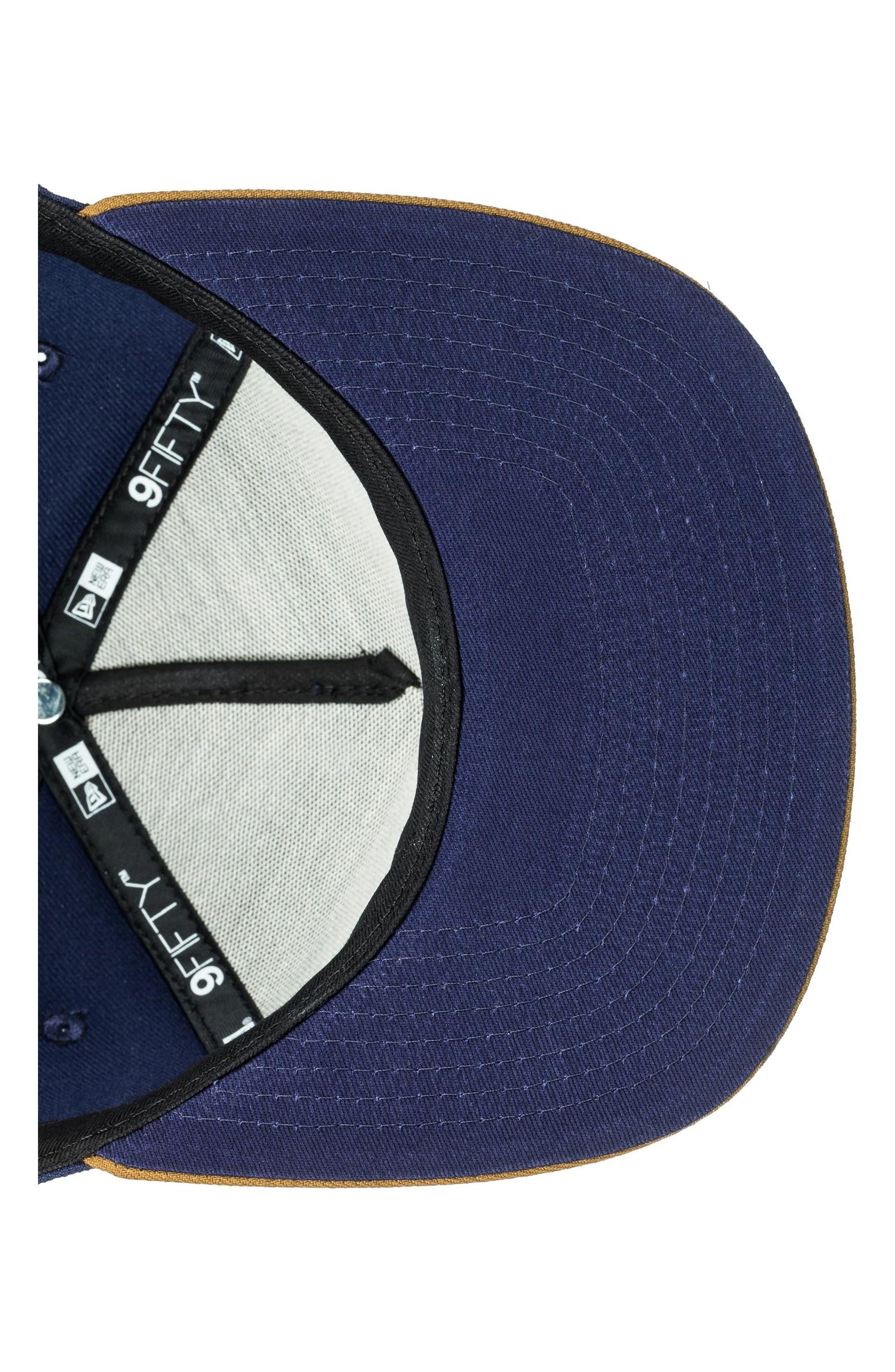 x New Era Stuckles Snapback Cap,                             Alternate thumbnail 4, color,                             Navy Blazer