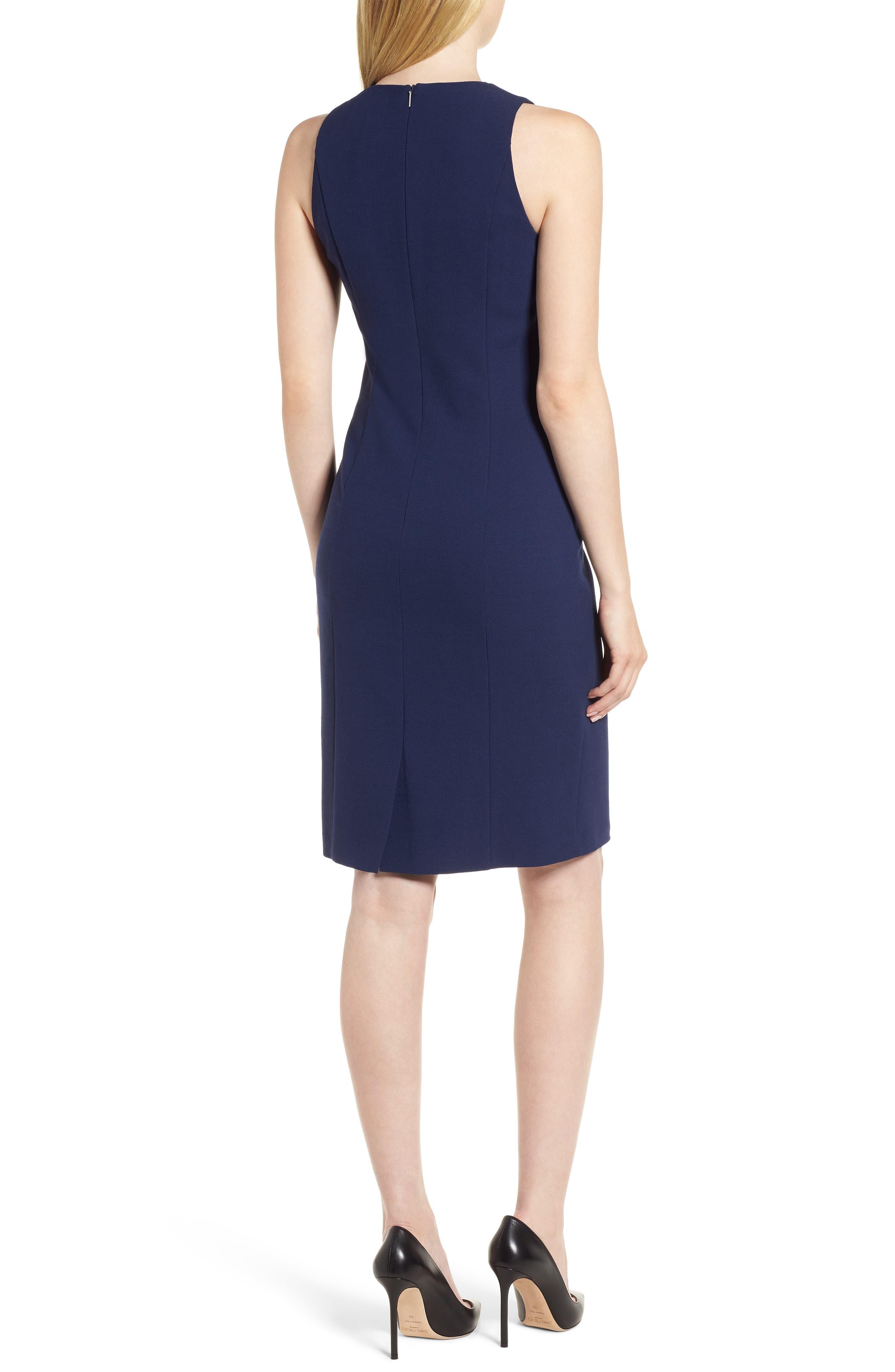 Dibalena Texture Stretch Dress,                             Alternate thumbnail 2, color,                             Nautical