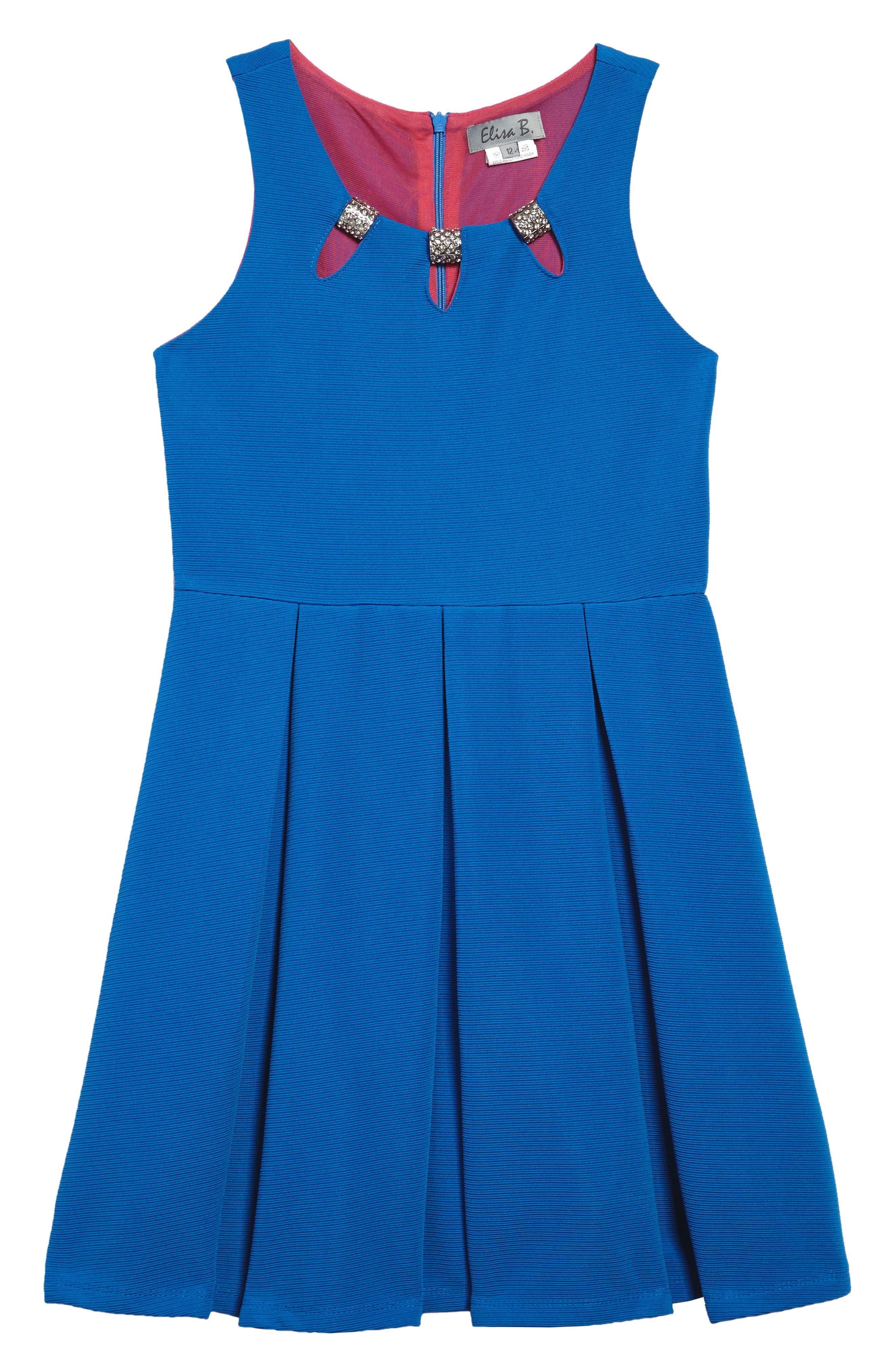 Elisa B Pleated Dress (Big Girls)