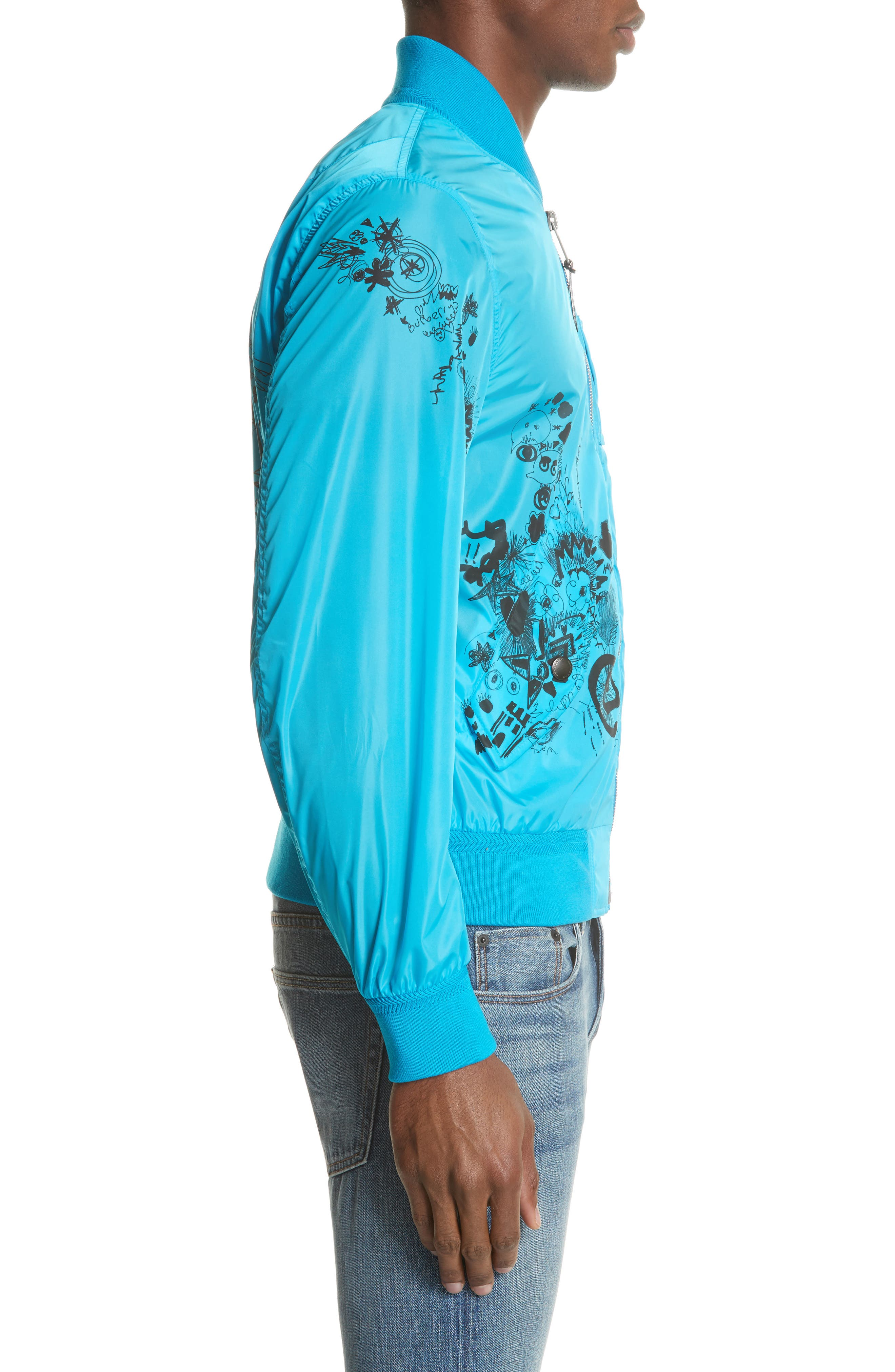 Brinkley Standard Fit Jacket,                             Alternate thumbnail 3, color,                             Bright Blue