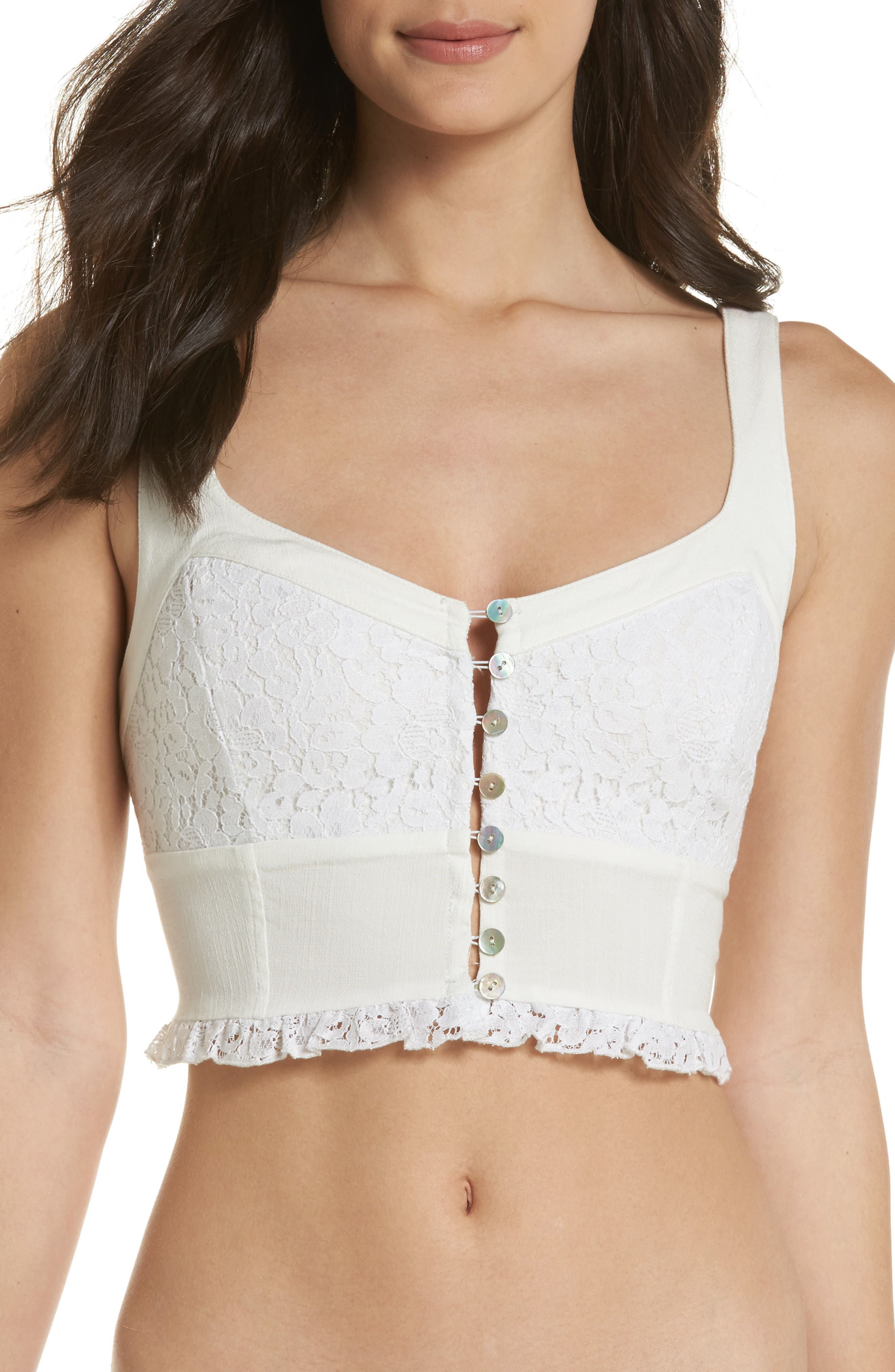 Free People Intimately FP Here I Go Longline Bralette