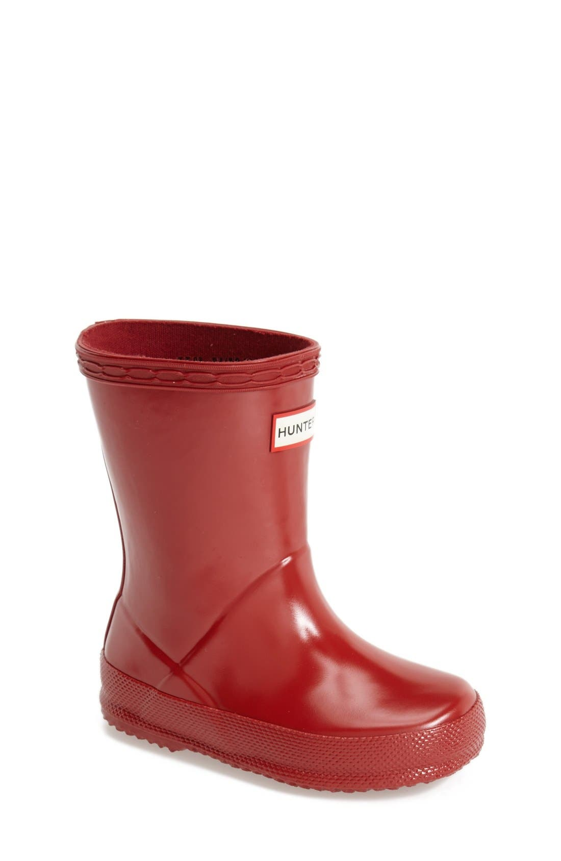 Main Image - Hunter 'First Gloss' Rain Boot (Walker, Toddler & Little Kid)