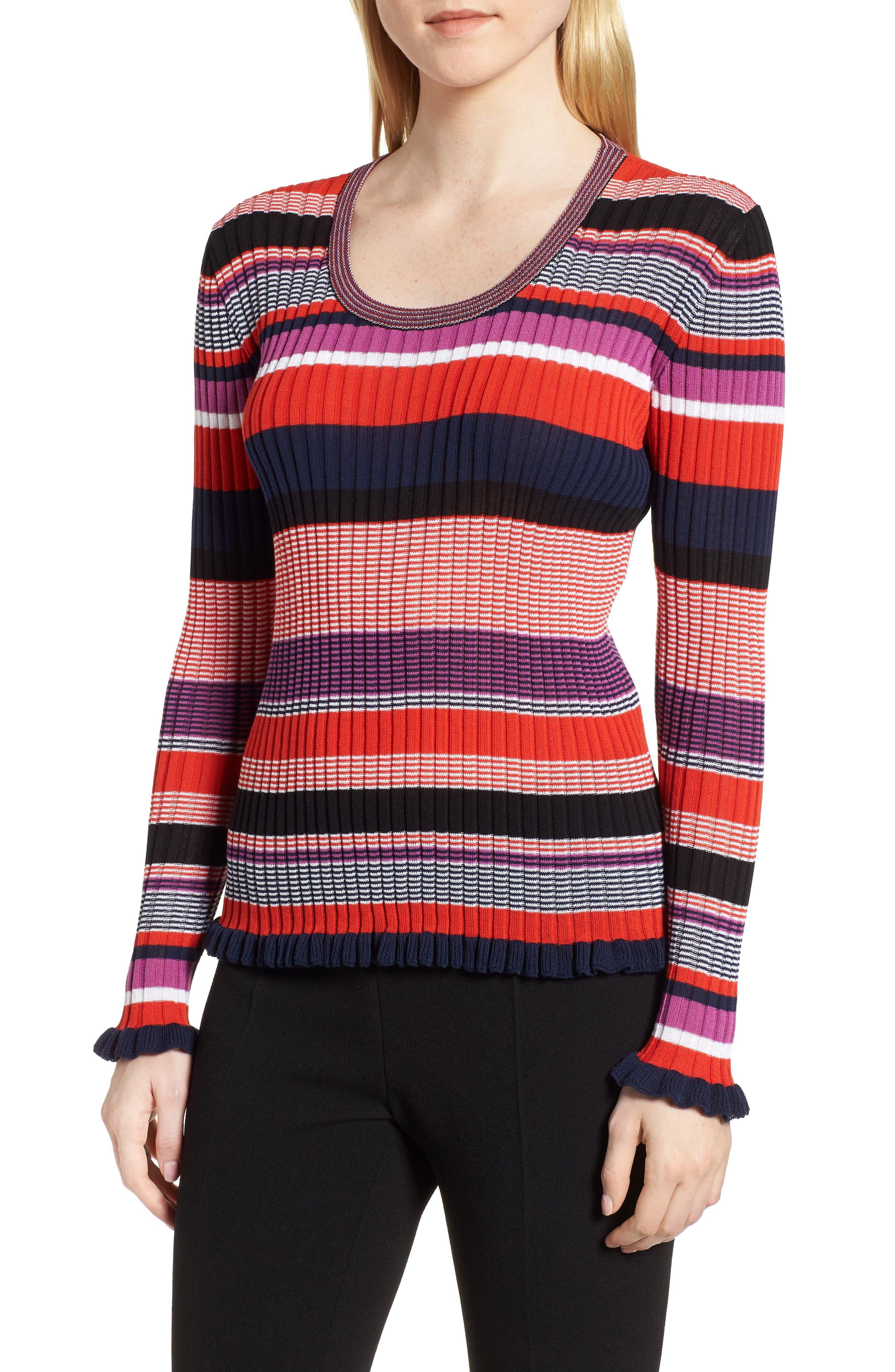Fallegria Stripe Sweater,                             Main thumbnail 1, color,                             Black Fantasy