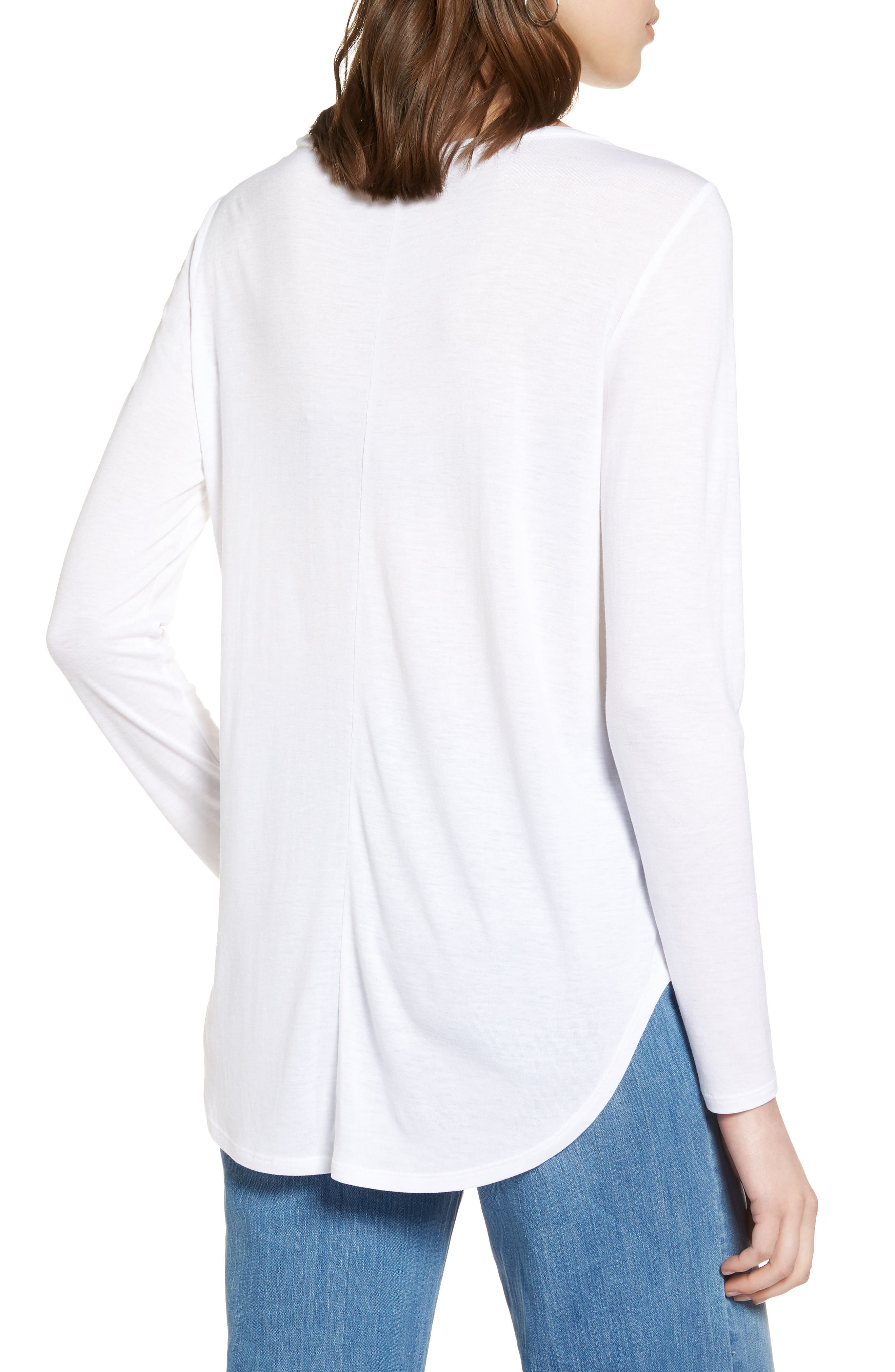 Shirttail Tee,                             Alternate thumbnail 2, color,                             Ivory Cloud