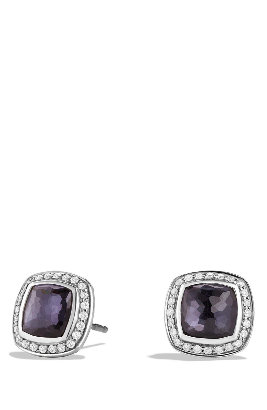 David Yurman 'Albion' Earrings with Semiprecious Stone and Diamonds