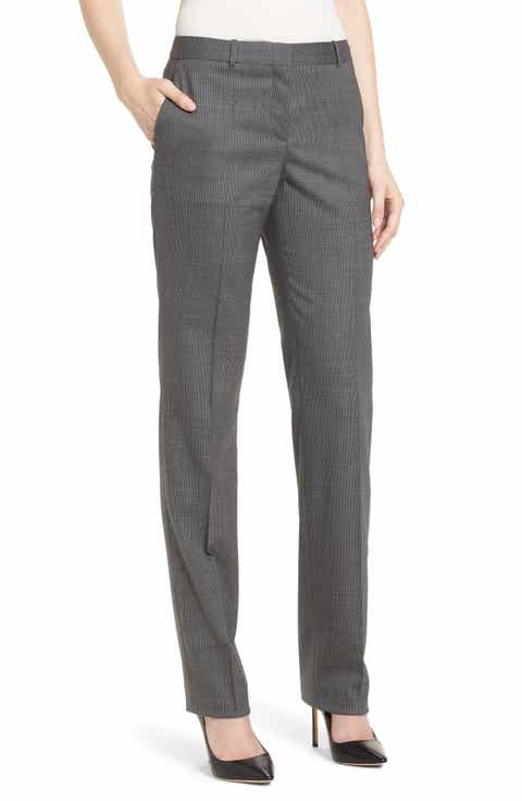 BOSS Tamea Minidessin Trousers (Regular & Petite)