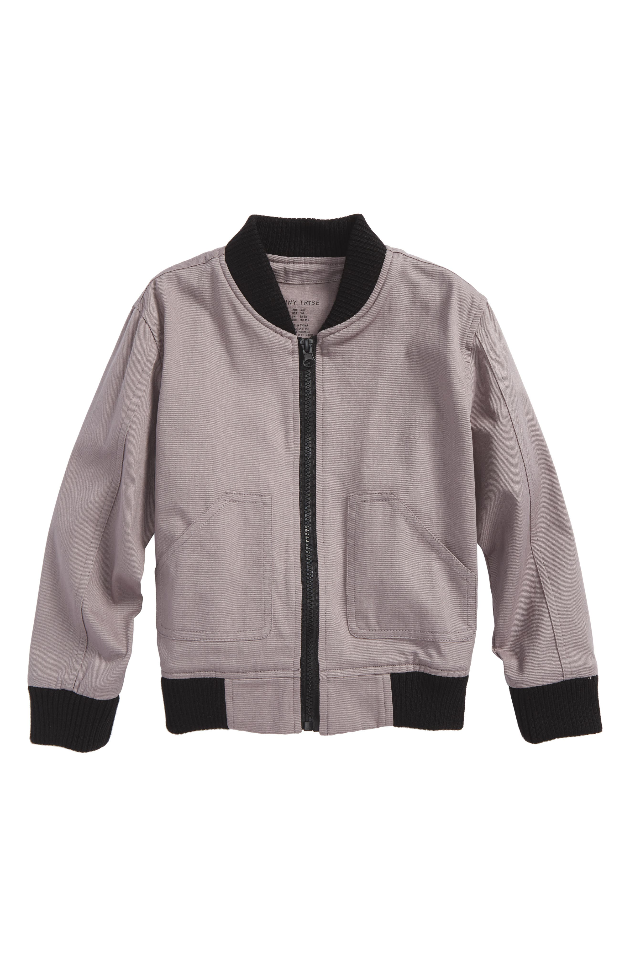 Tiny Tribe Check You Later Bomber Jacket (Toddler Girls & Little Girls)