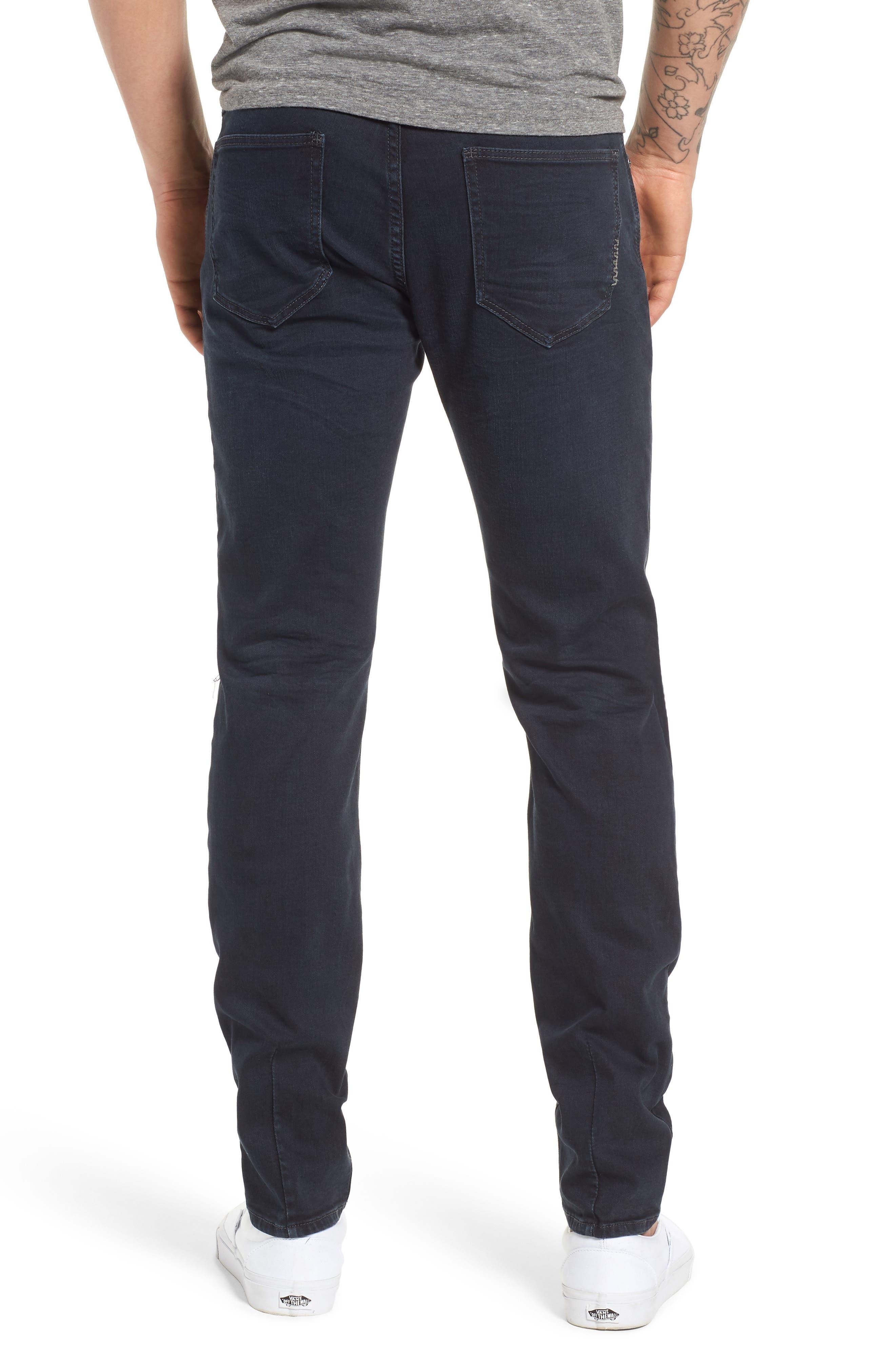 Iggy Skinny Fit Jeans,                             Alternate thumbnail 2, color,                             Blue Lines Broken