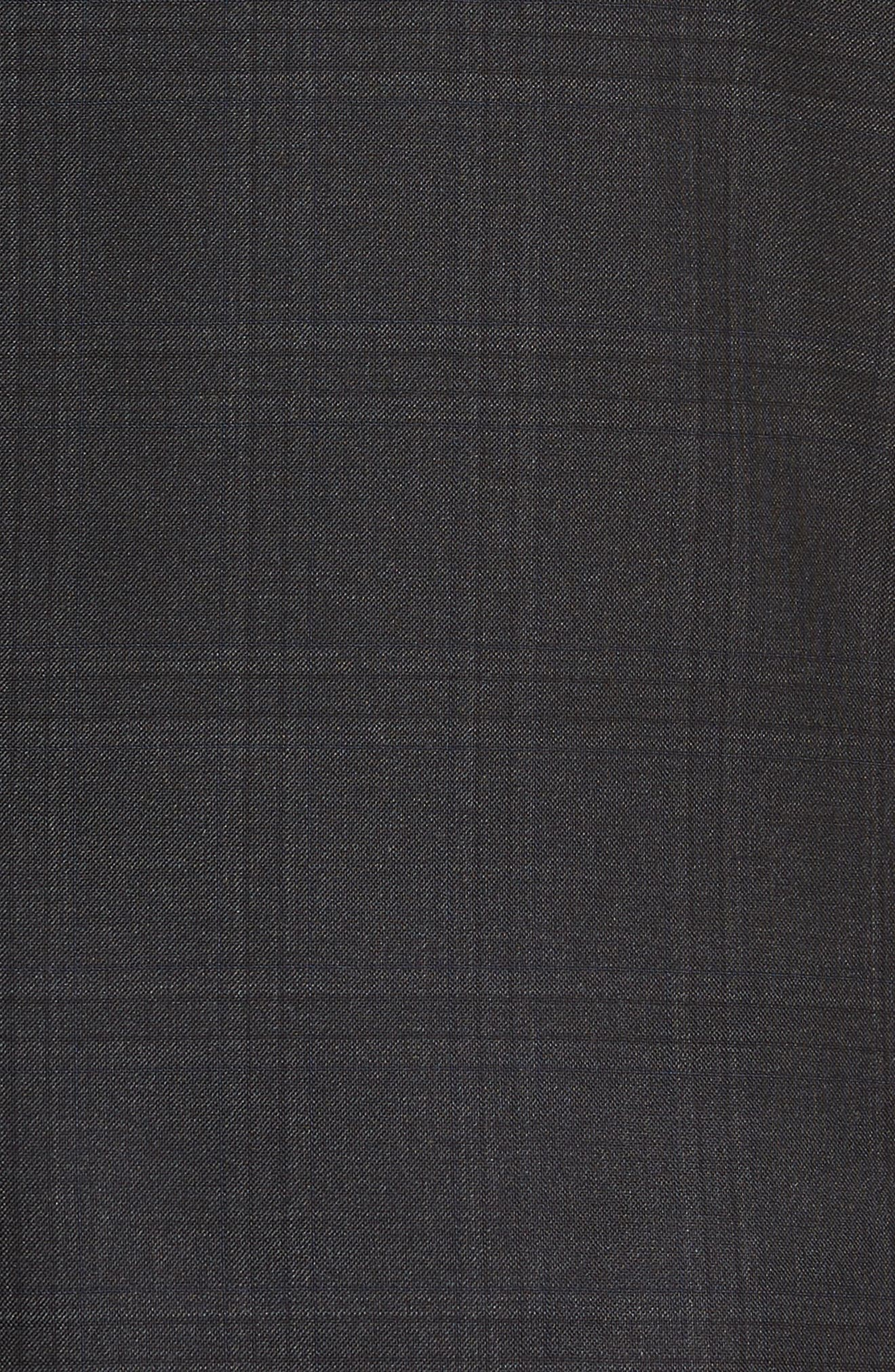 Jay Trim Fit Plaid Wool Suit,                             Alternate thumbnail 8, color,                             Charcoal