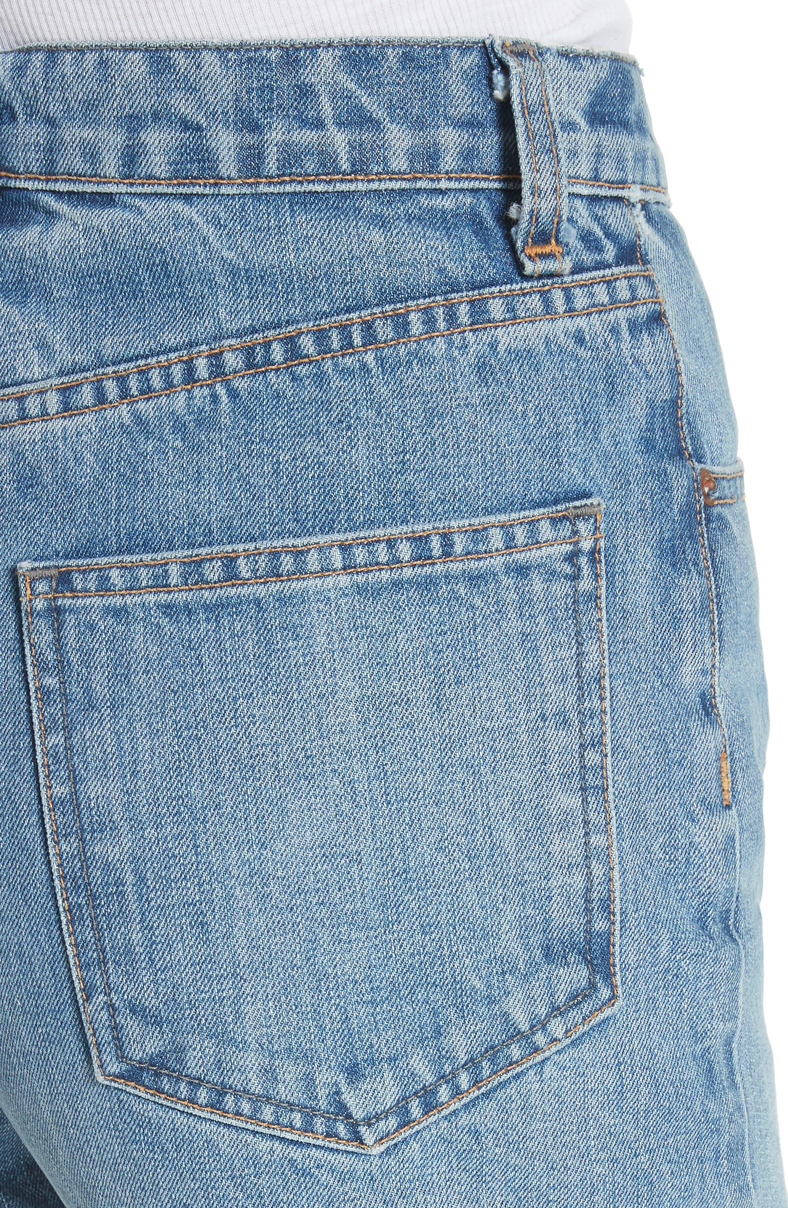 Torti High Waist Denim Shorts,                             Alternate thumbnail 4, color,                             Vintage