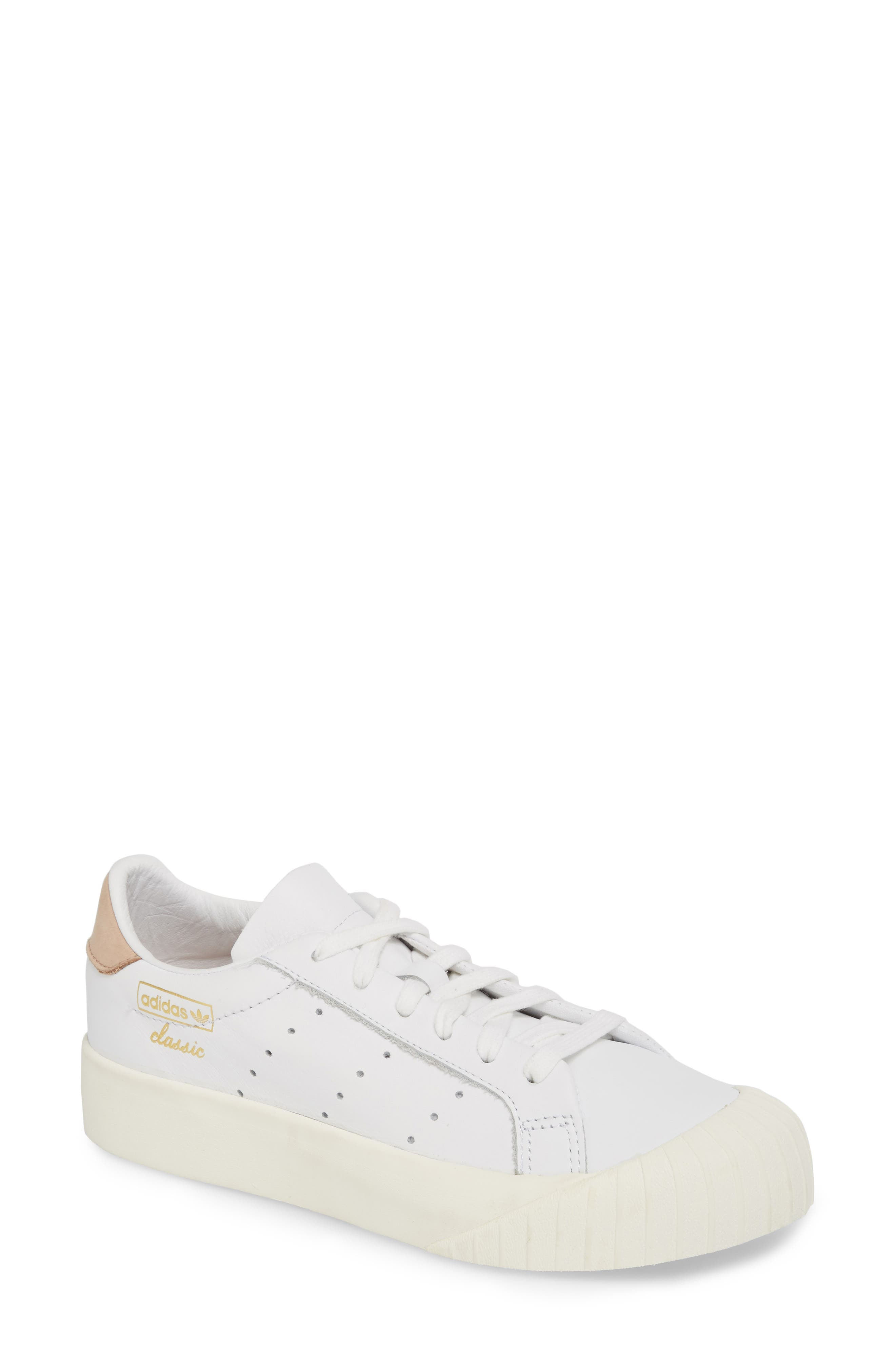 Everyn Perforated Low Top Sneaker,                             Main thumbnail 1, color,                             White/ White/ Ash Pearl