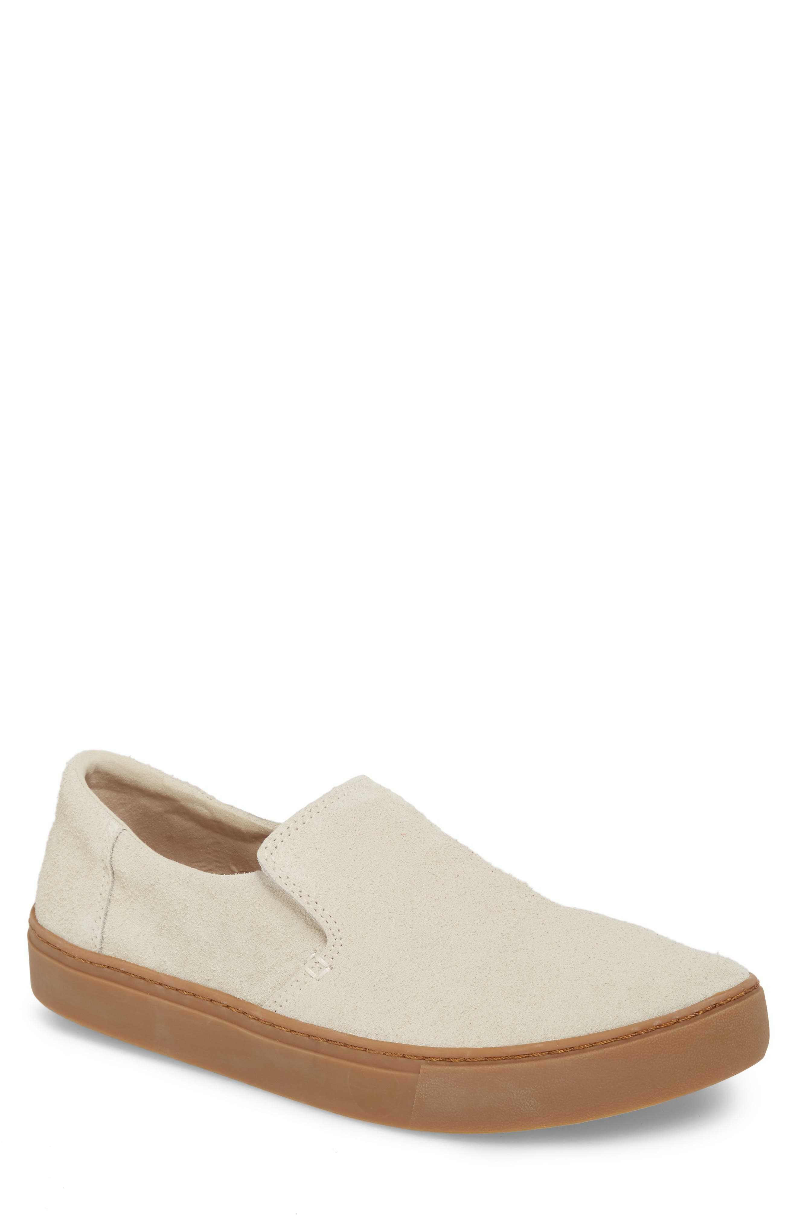 Loma Slip-On Sneaker,                             Main thumbnail 1, color,                             Birch Shaggy Suede/ Gum