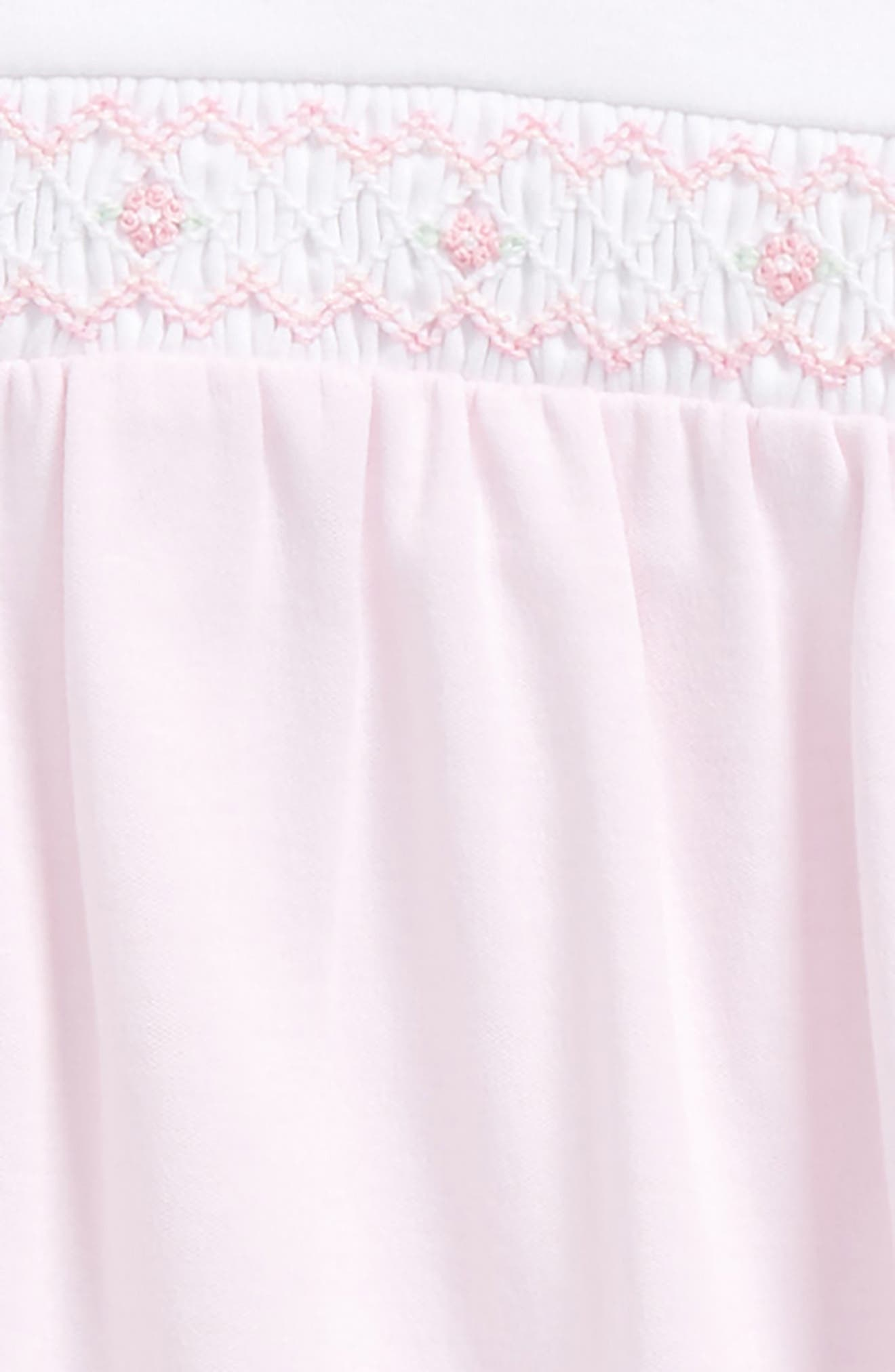 Smocked Pima Cotton Footie,                             Alternate thumbnail 2, color,                             Pink